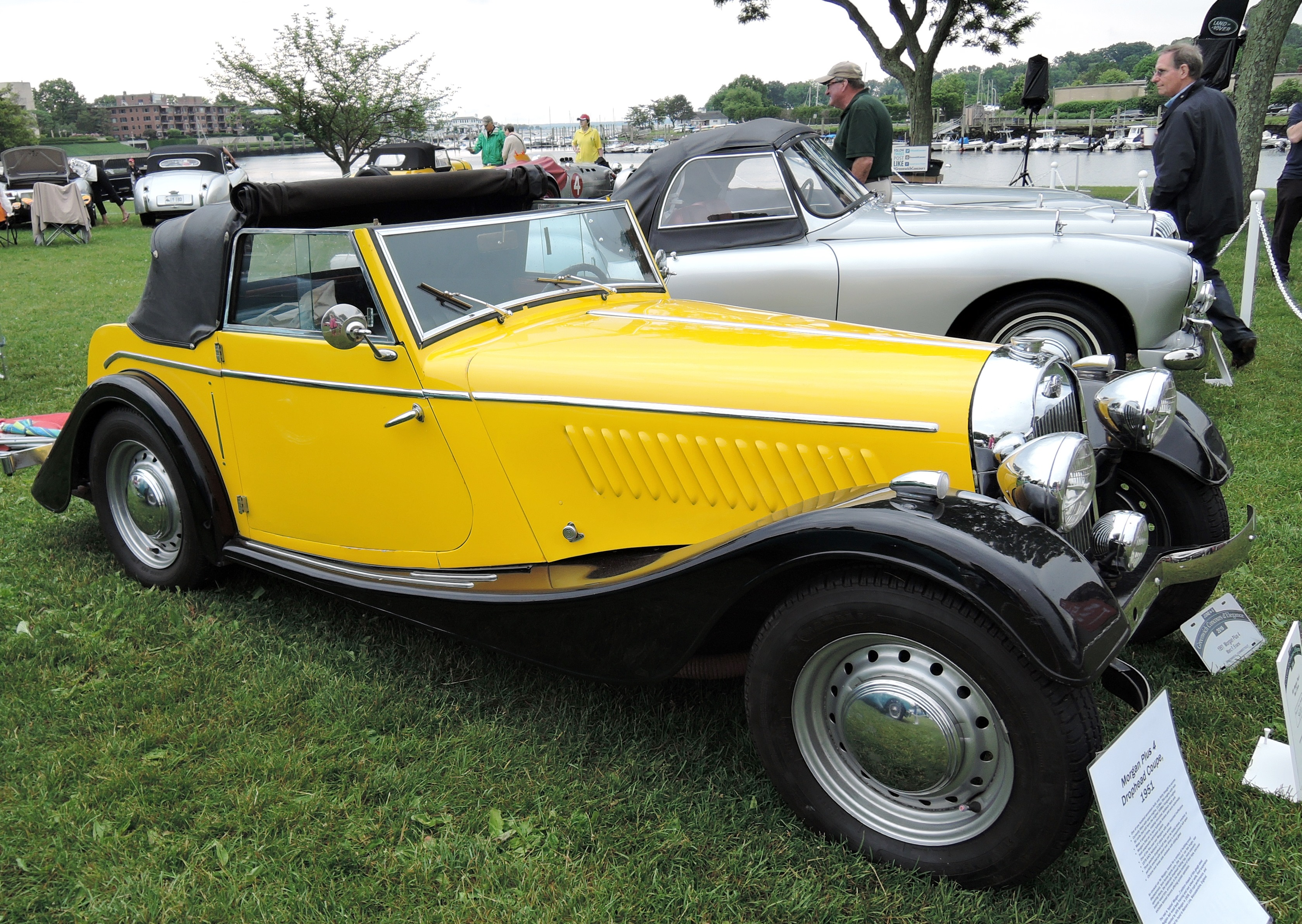 yellow 1951 Morgan Plus 4 Drophead Coupe - Greenwich concours d'elegance