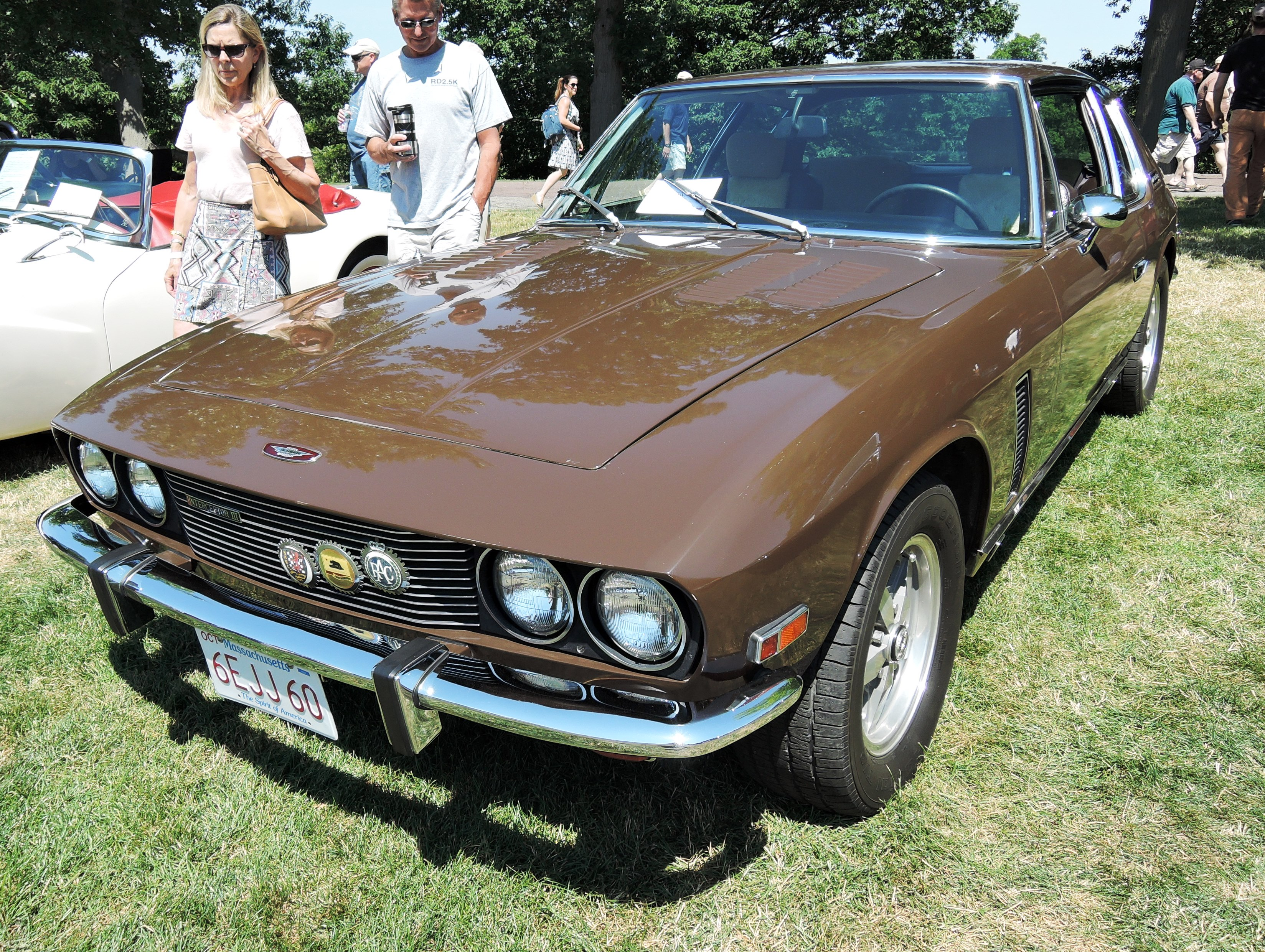 brown 1972 Jensen Interceptor 3 - british car day