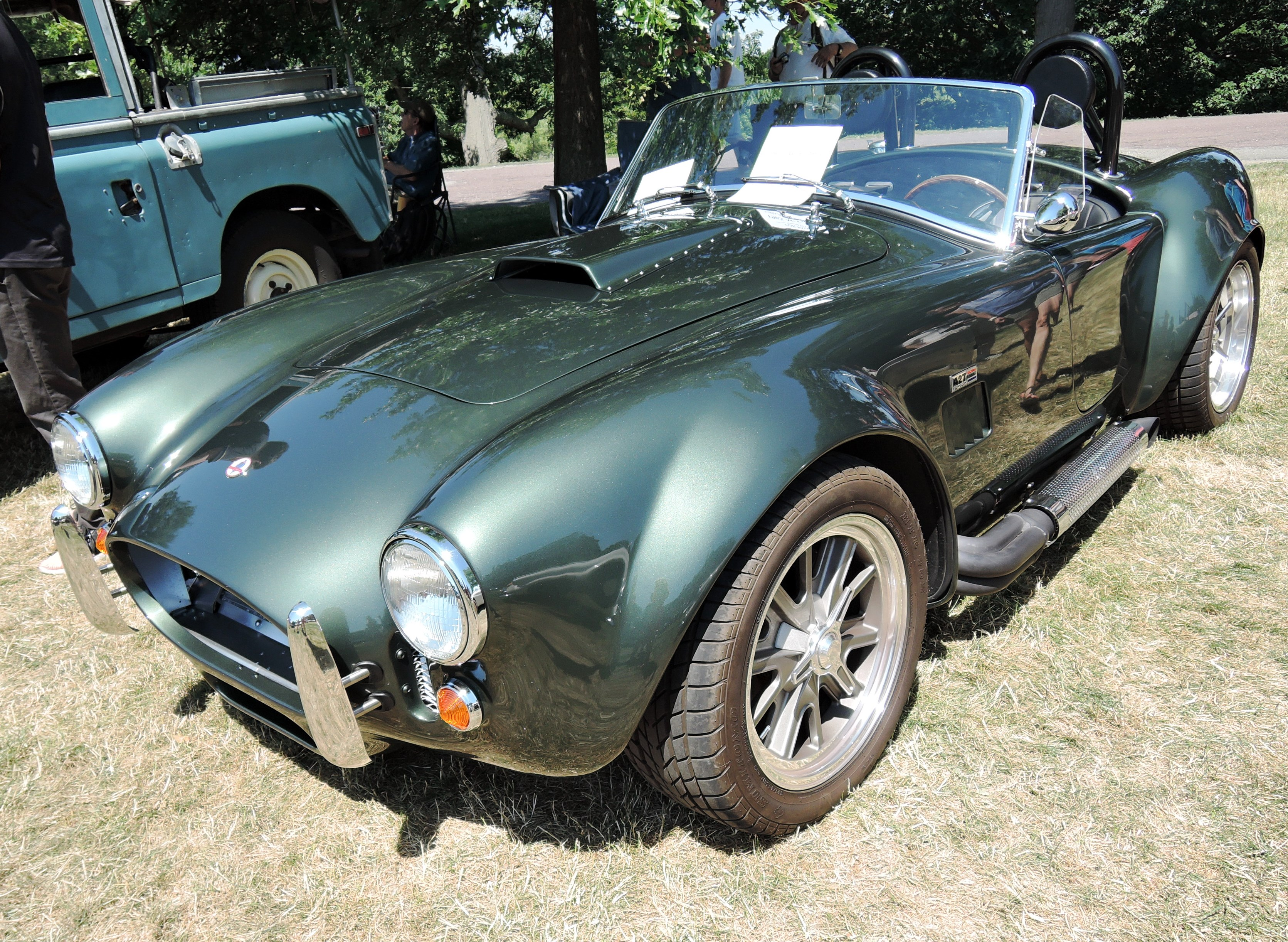 green 1965 AC Cobra - british car day