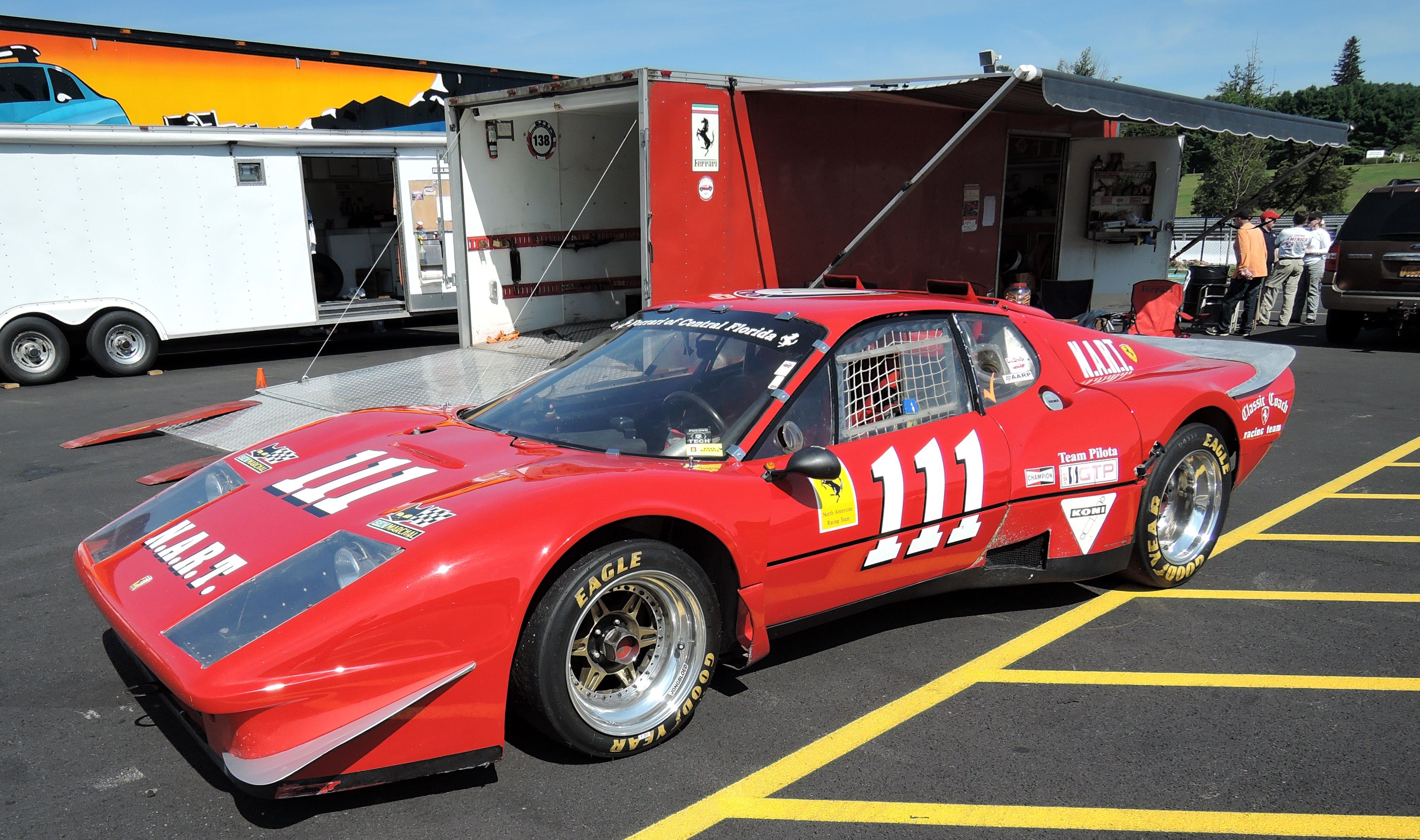 red Ferrari 365 GT4 BB - lime rock park