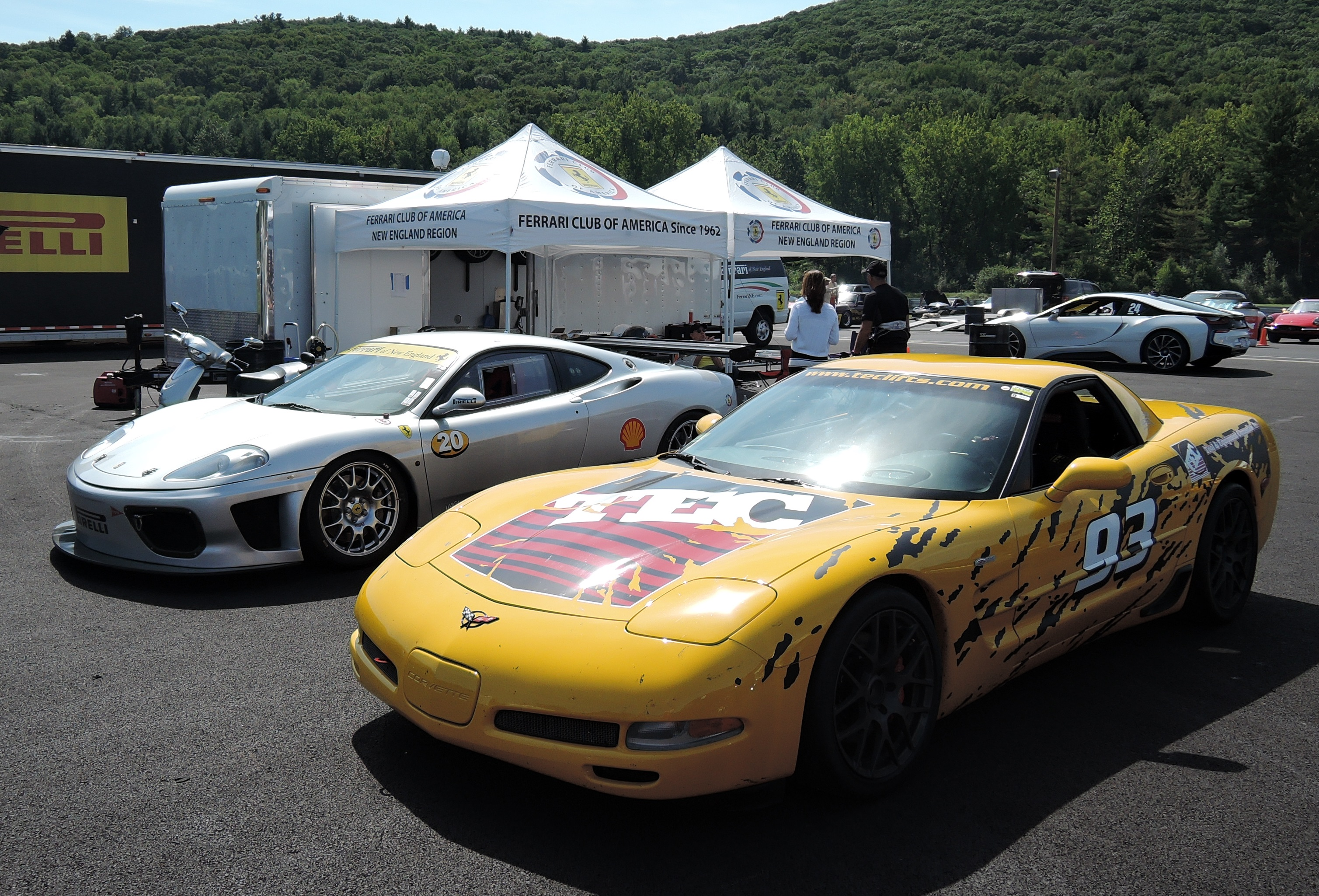 yellow z06 corvette - lime rock park