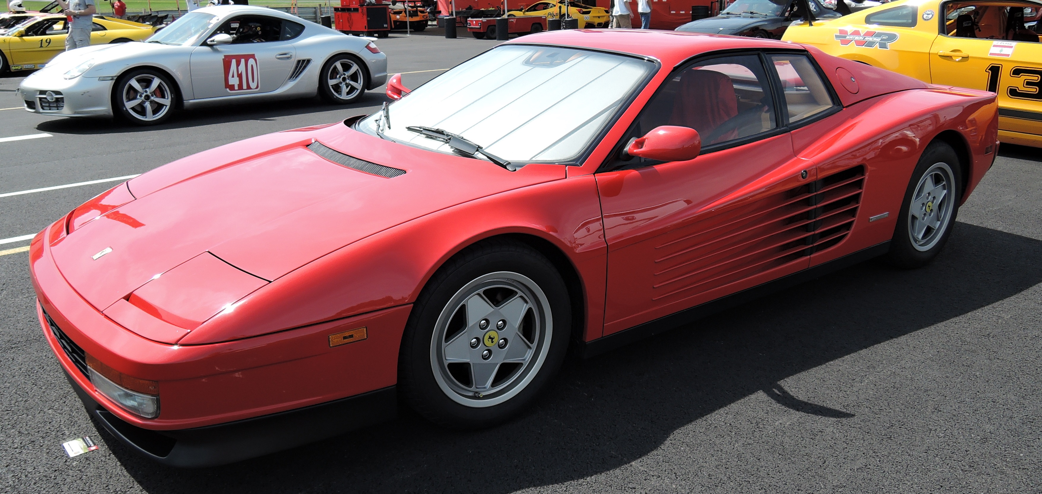 red Ferrari Testarossa - lime rock park