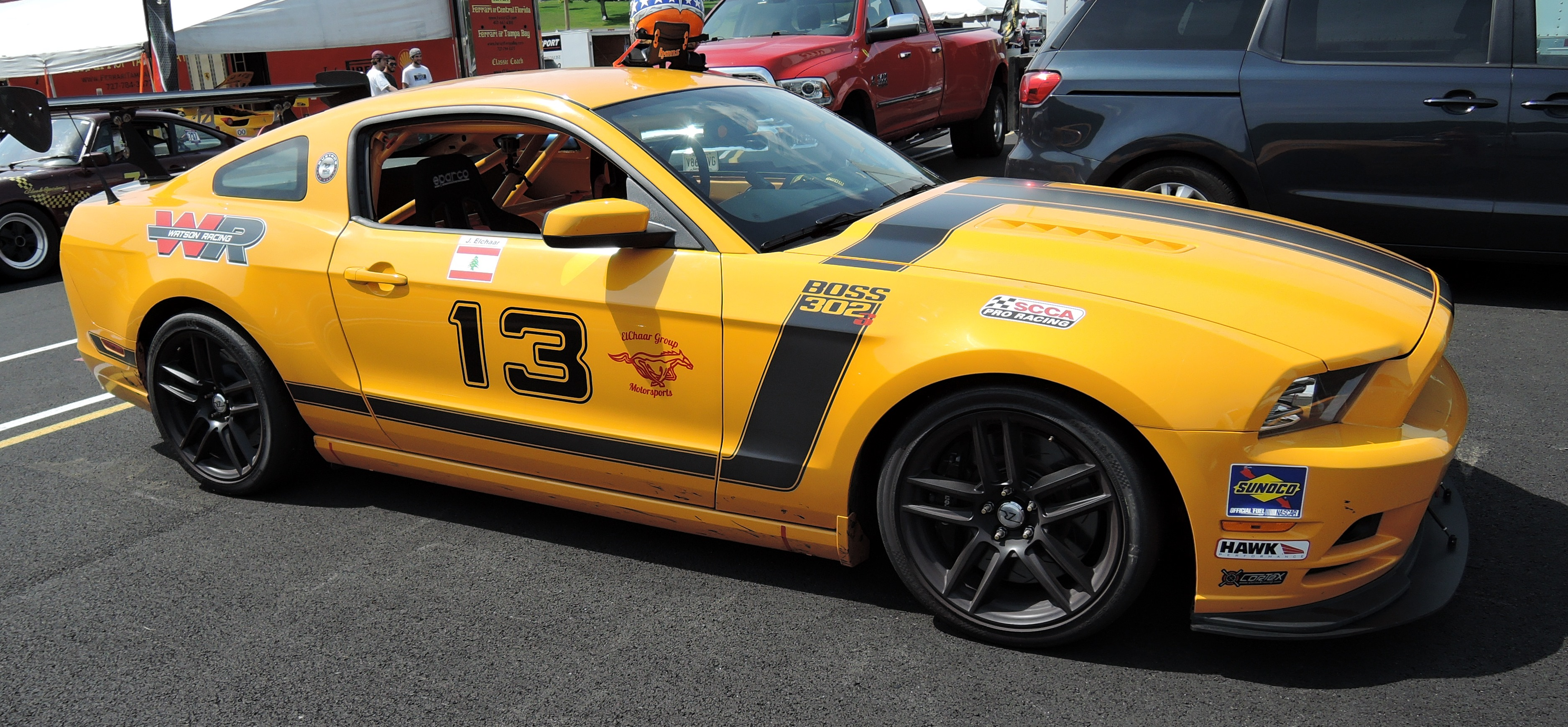 orange mustang - lime rock park