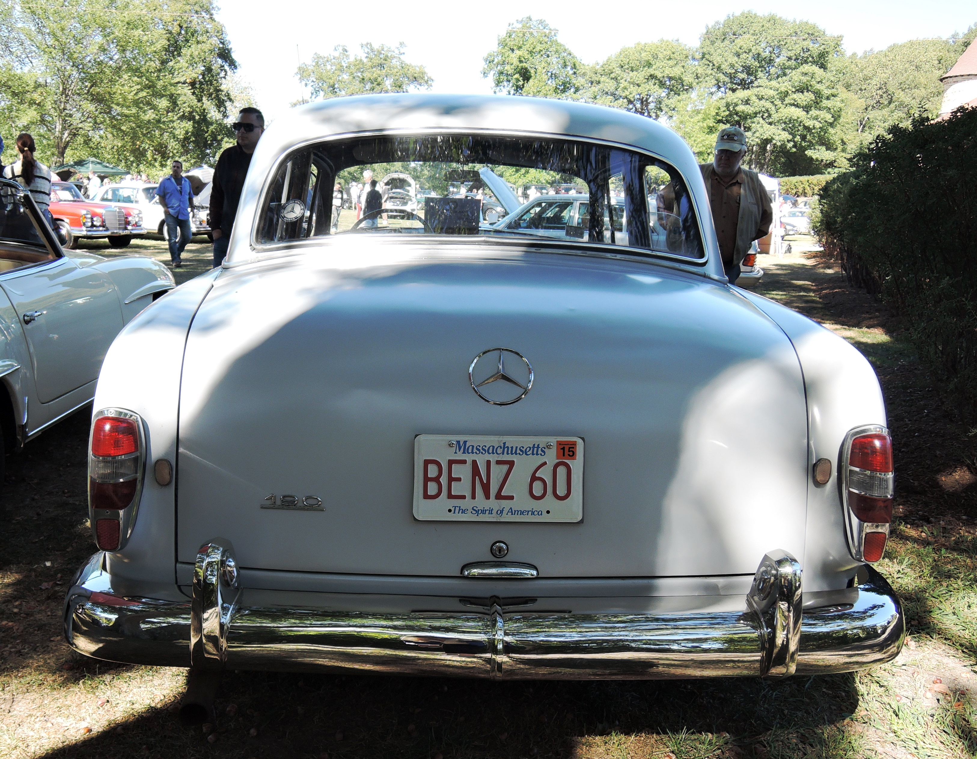 silver 1960 Mercedes-Benz 190 - vanity license plates
