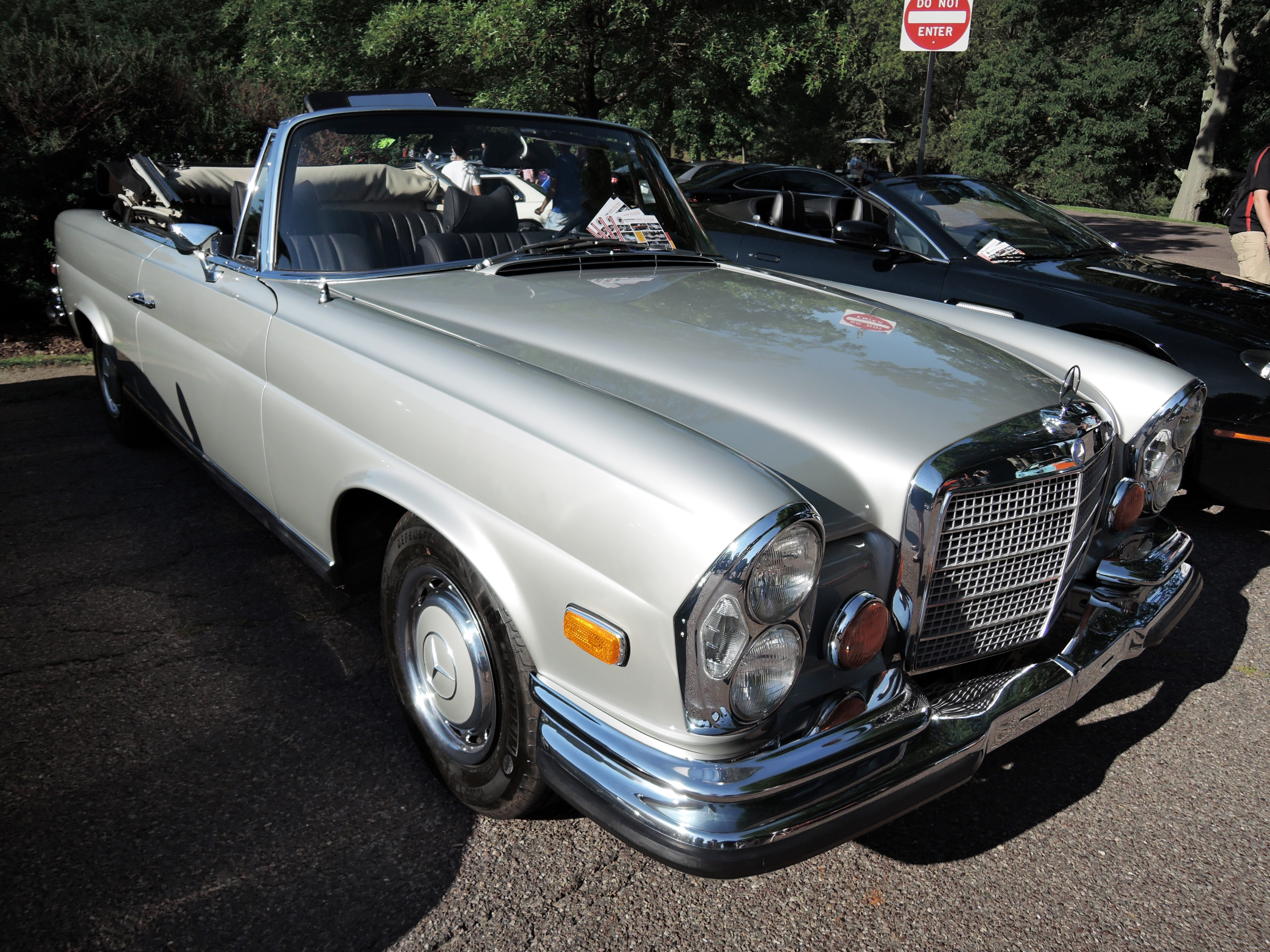 silver mercedes benz - Cars and coffee at larz