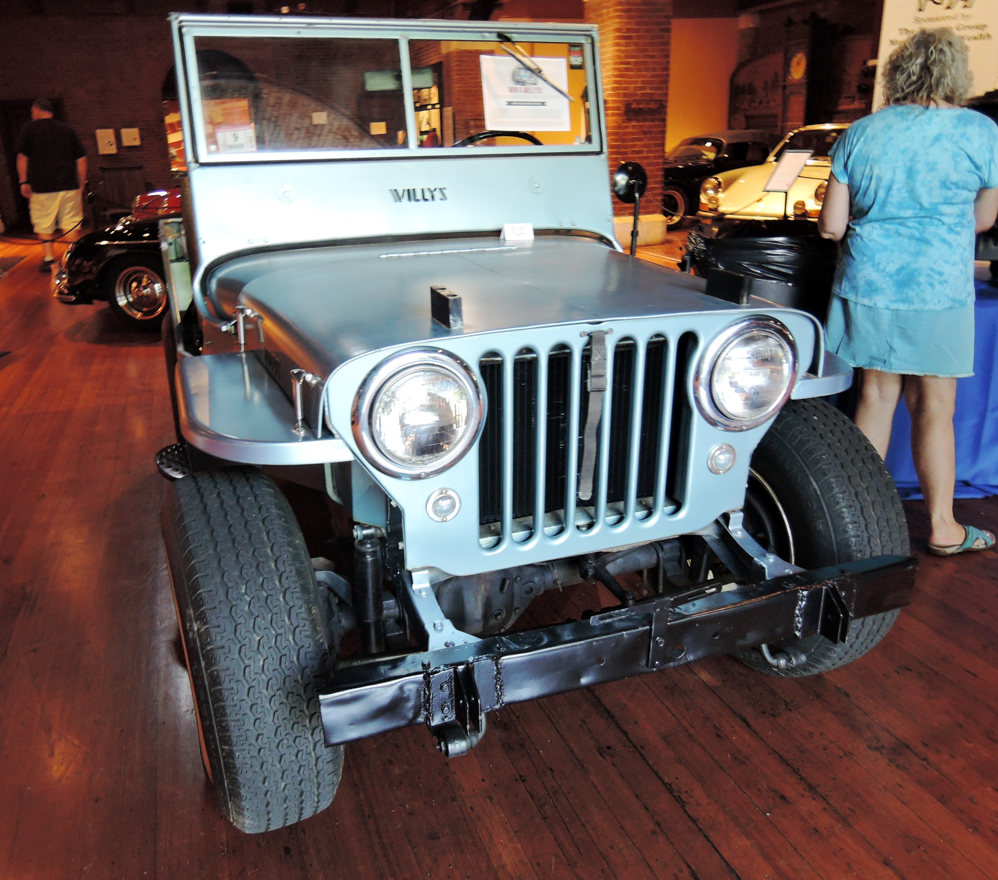 1948 Willys CJ-2A Jeep - cars and coffee at larz