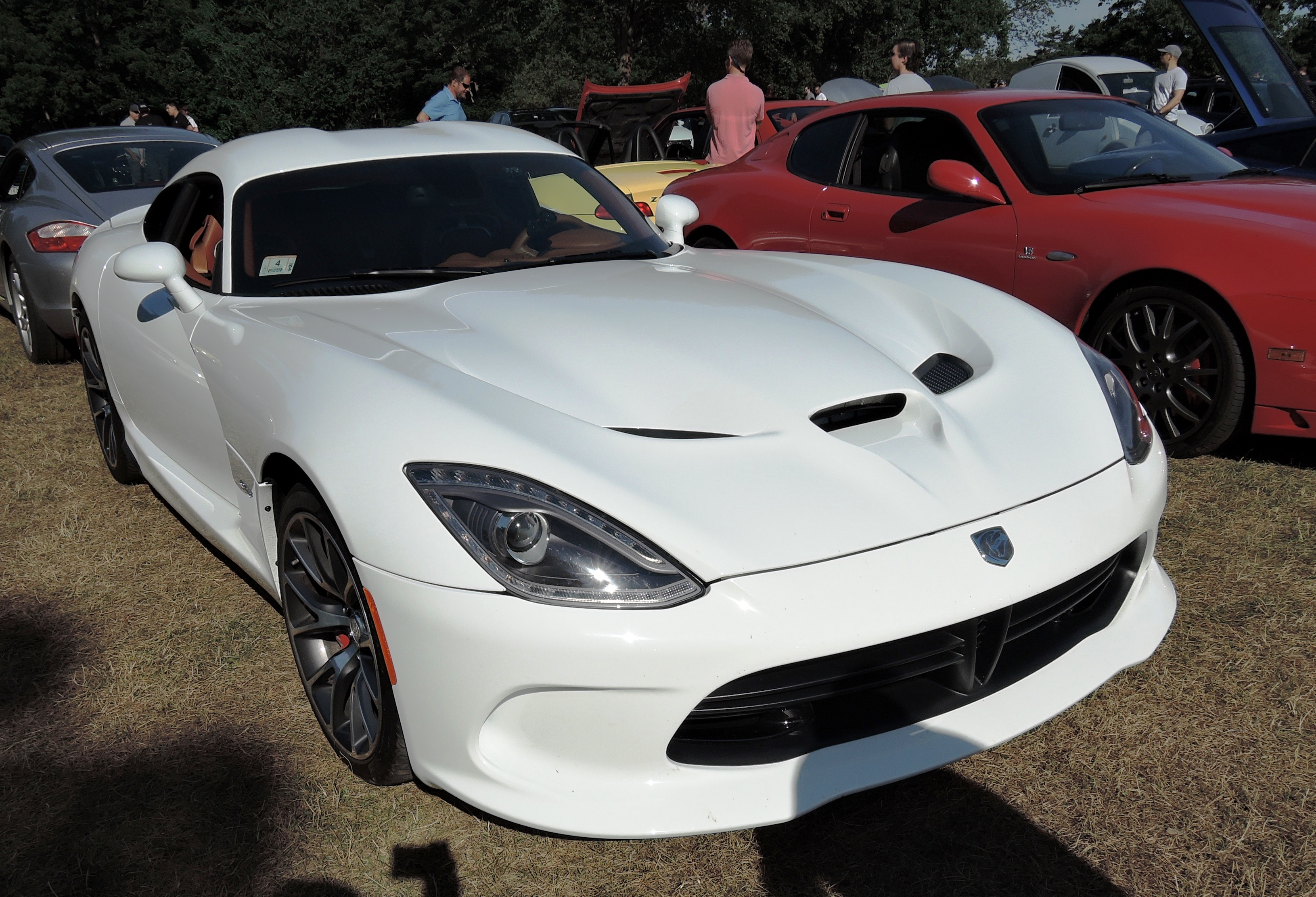 white viper - Cars and coffee at larz