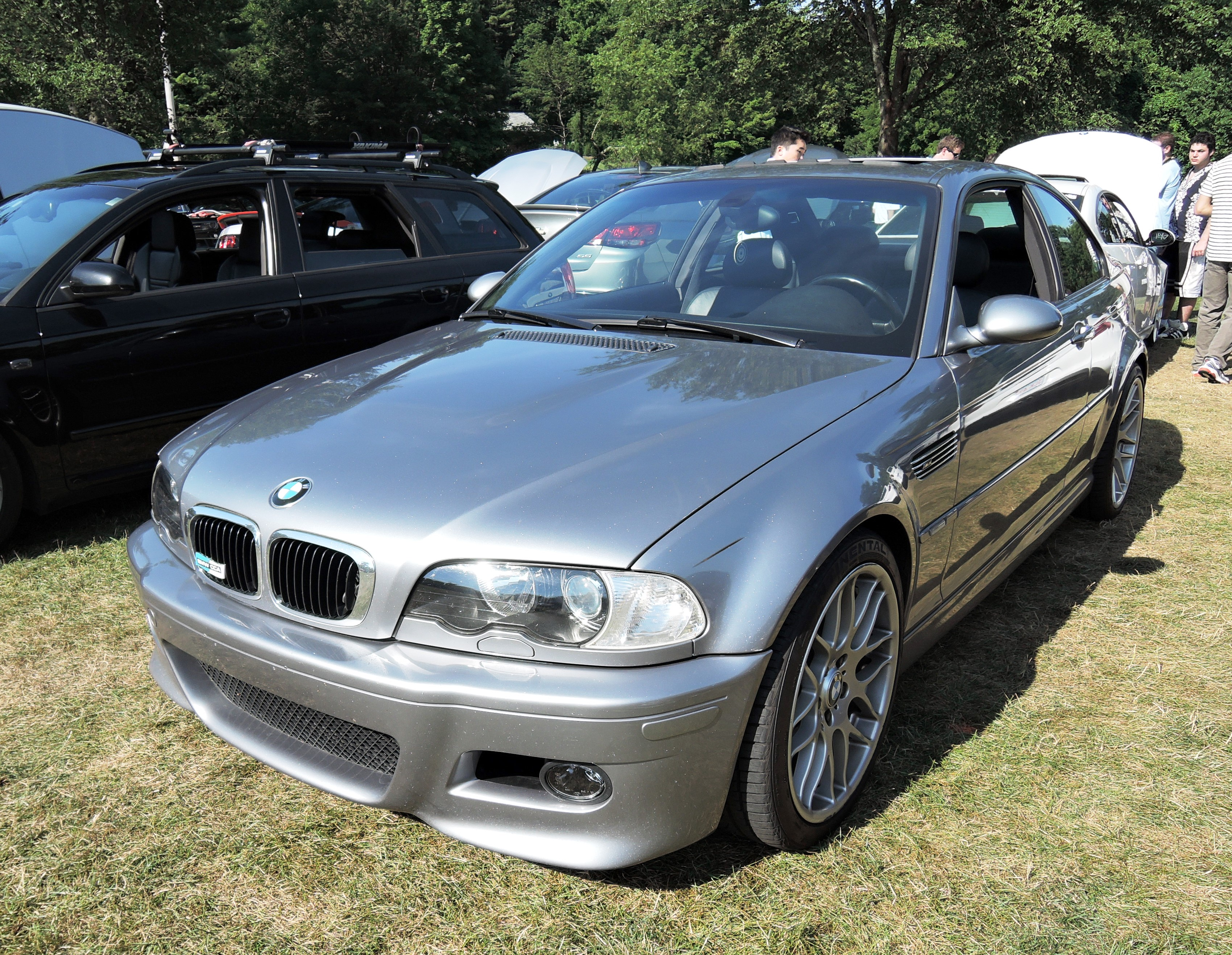 silver bmw Cars and coffee at larz