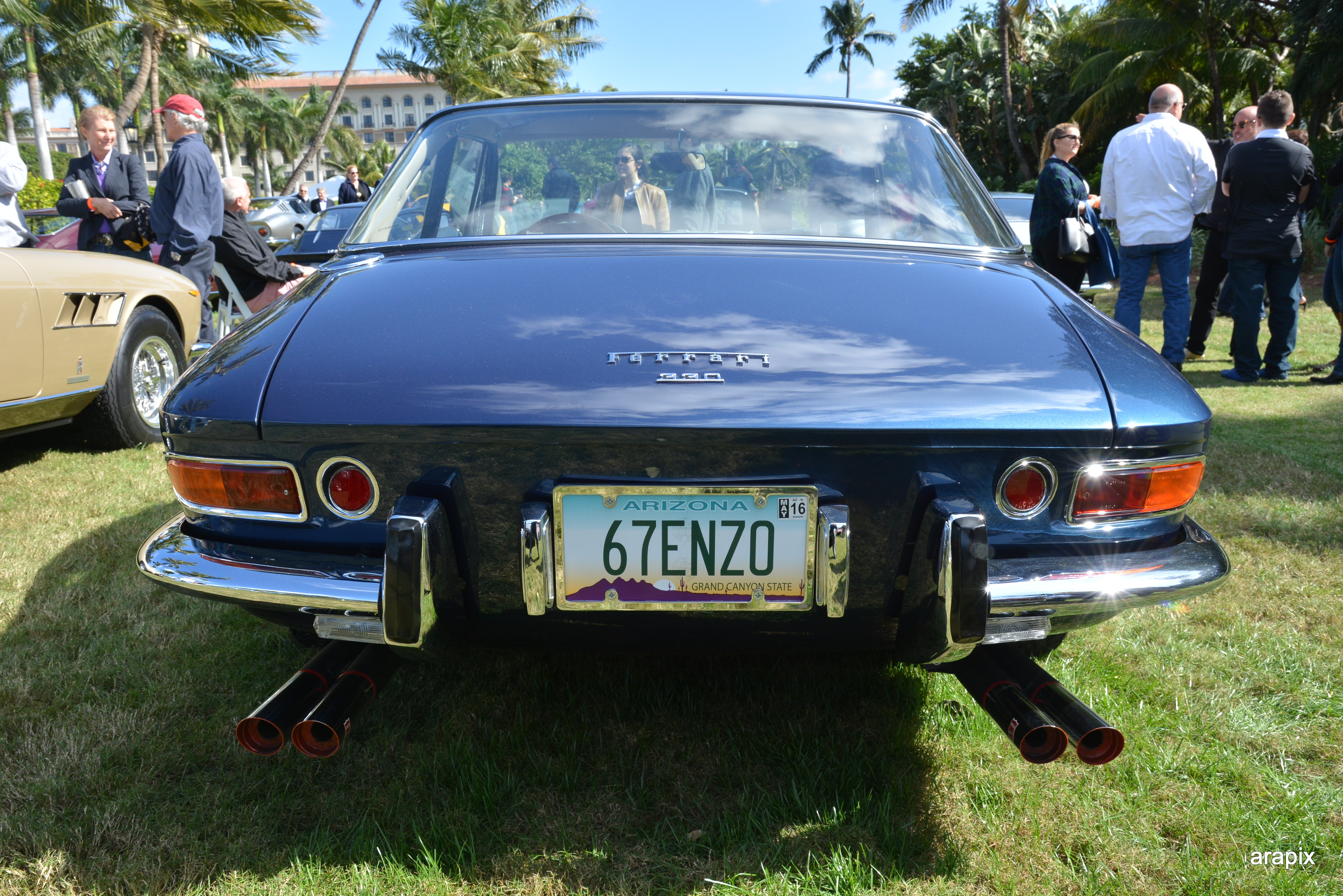 blue ferrari 330 - vanity license plates