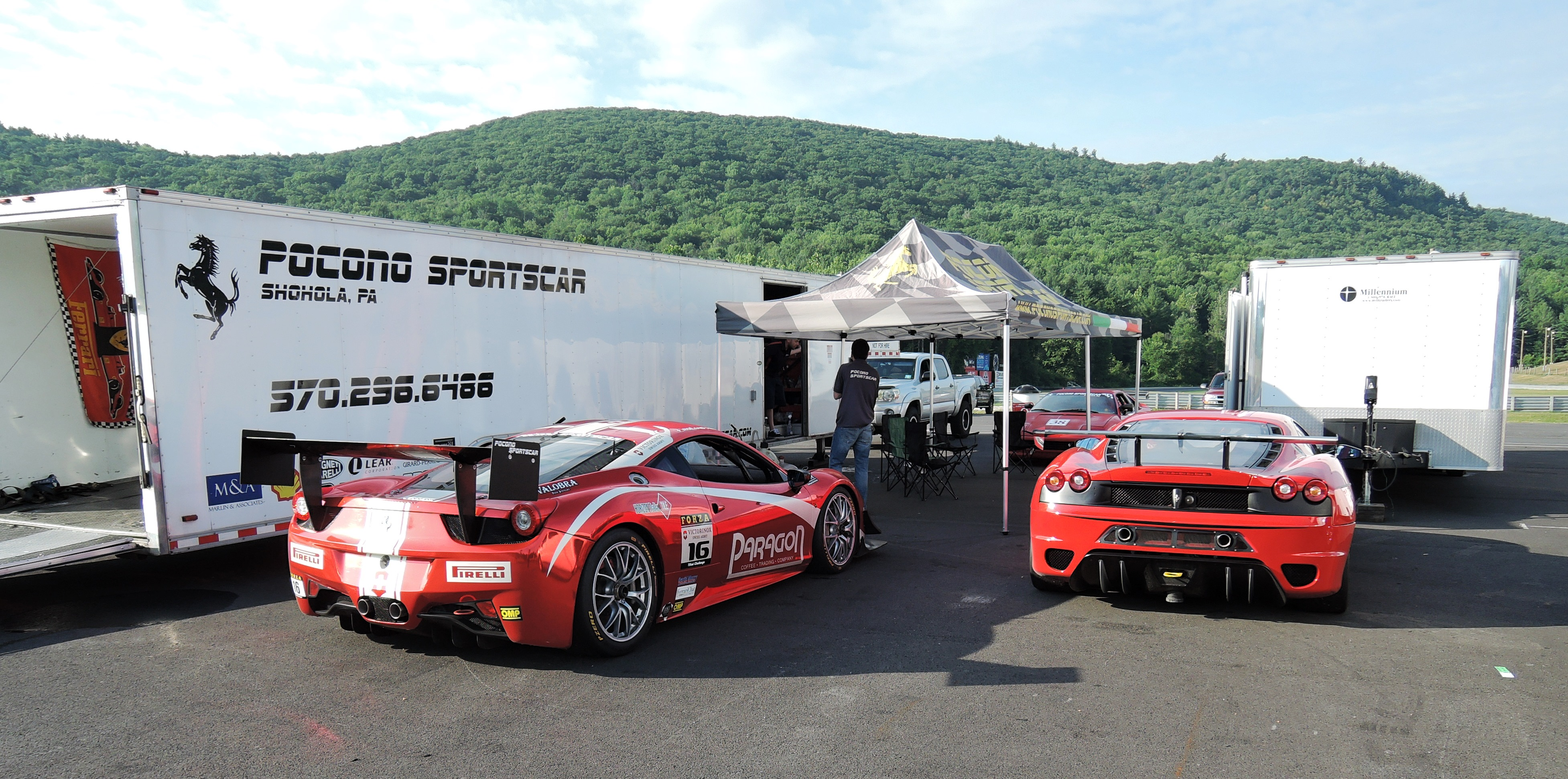 Pocono Sportcar - ferraris at lime rock