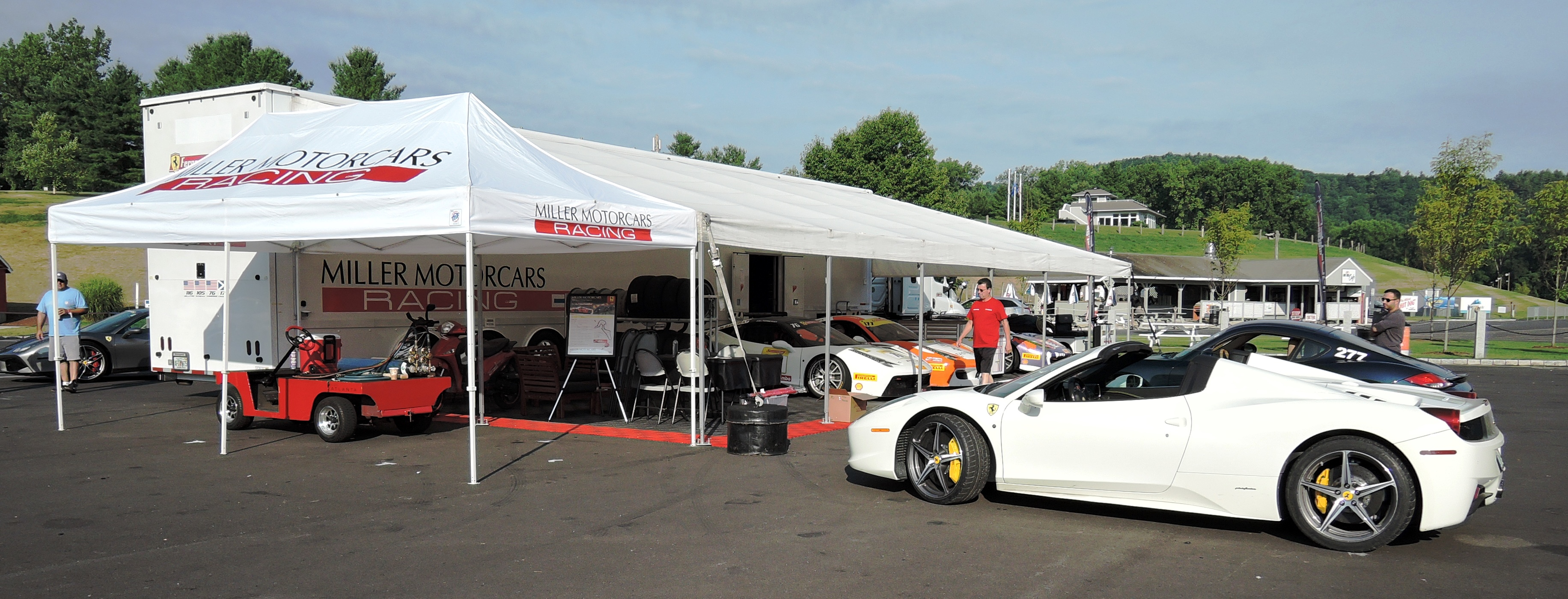Ferrari 458 Challenge Cars at Miller Motorcars - ferraris at lime rock