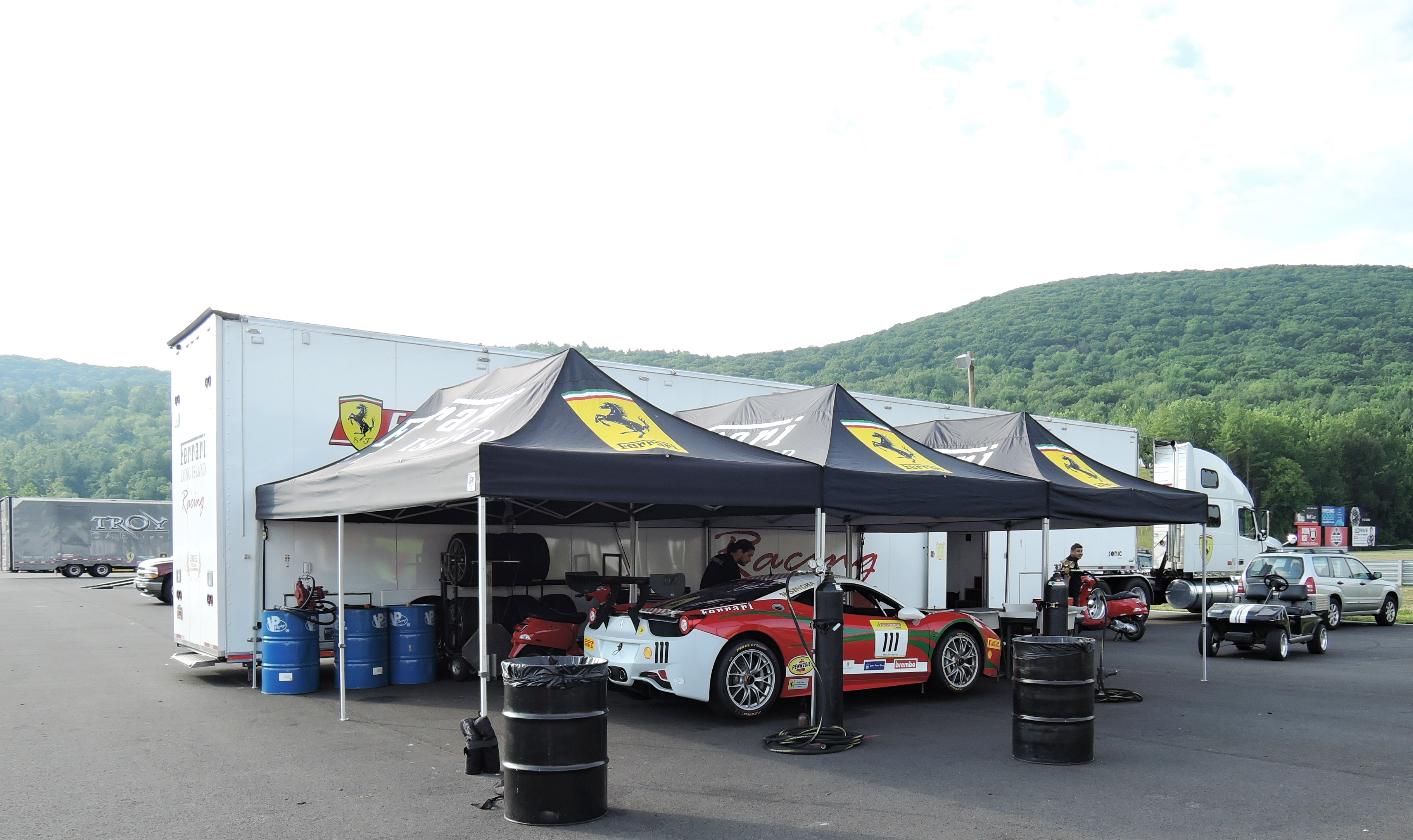 Ferrari 458 Challenge car - ferraris at lime rock