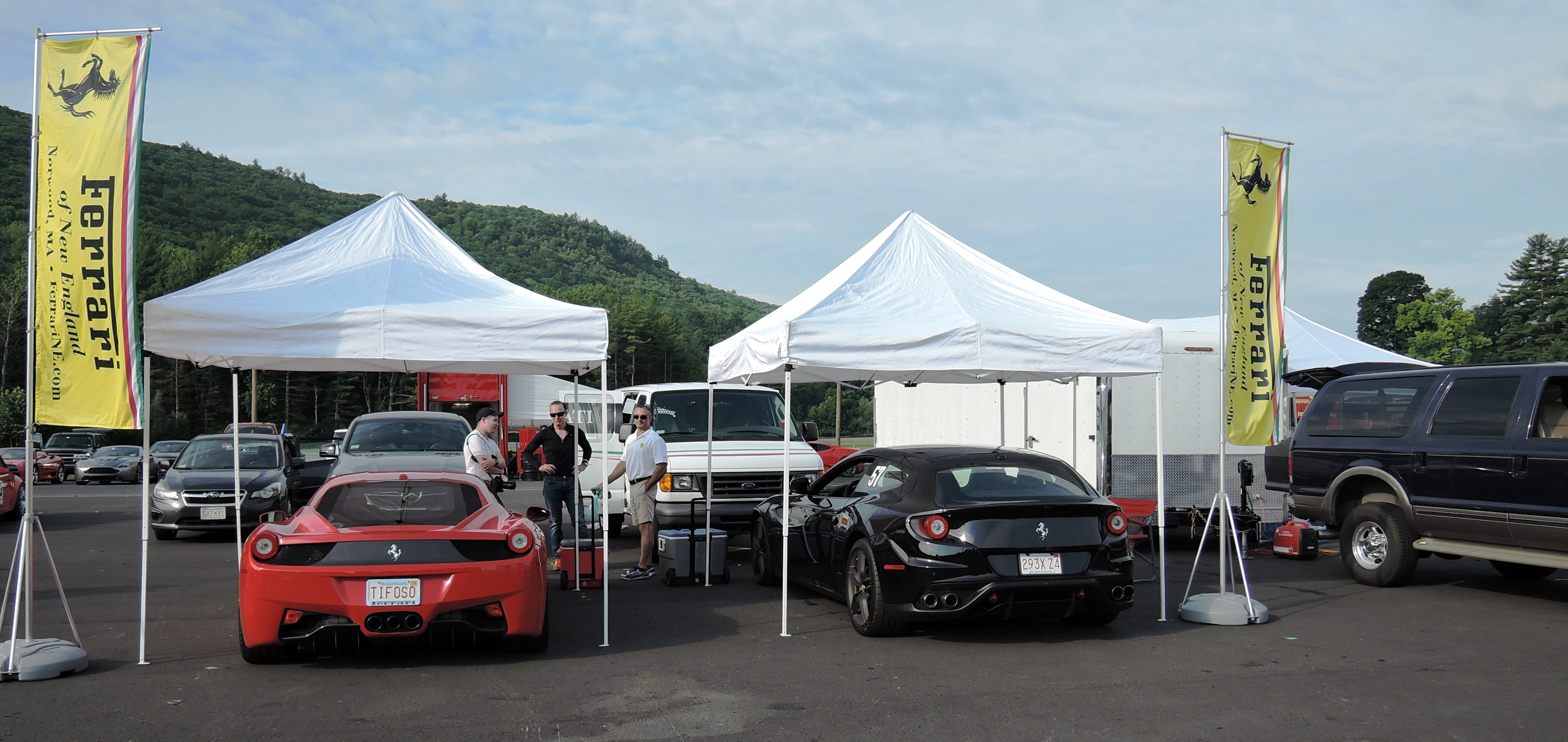 Ferrari of New England - ferraris at Lime rock park