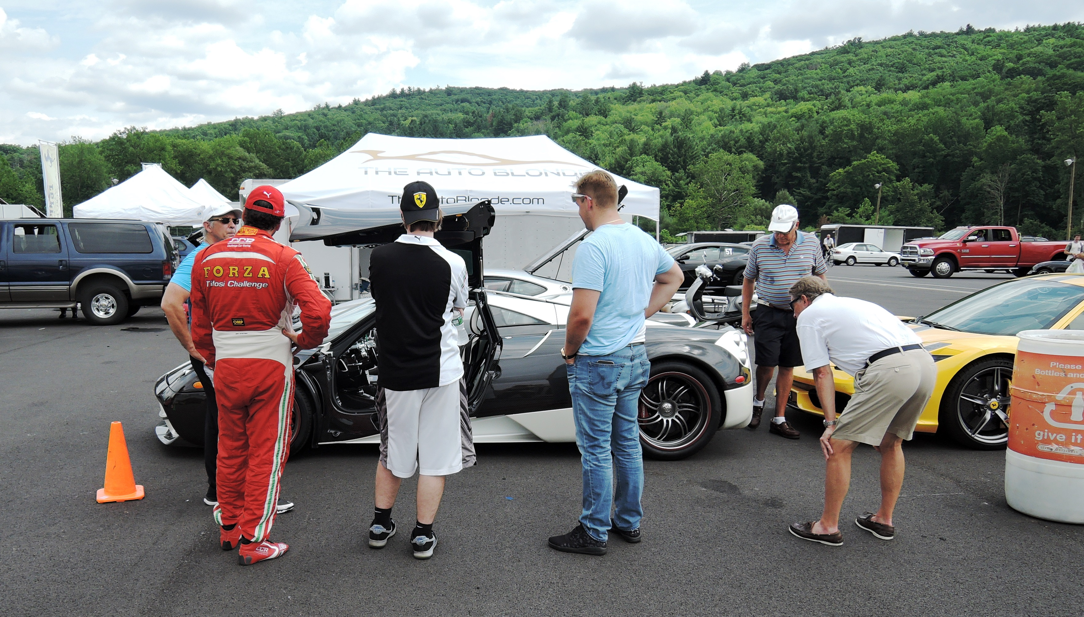 Pagani Huayra and Ferrari 360 Challenge car - ferraris at lime rock park