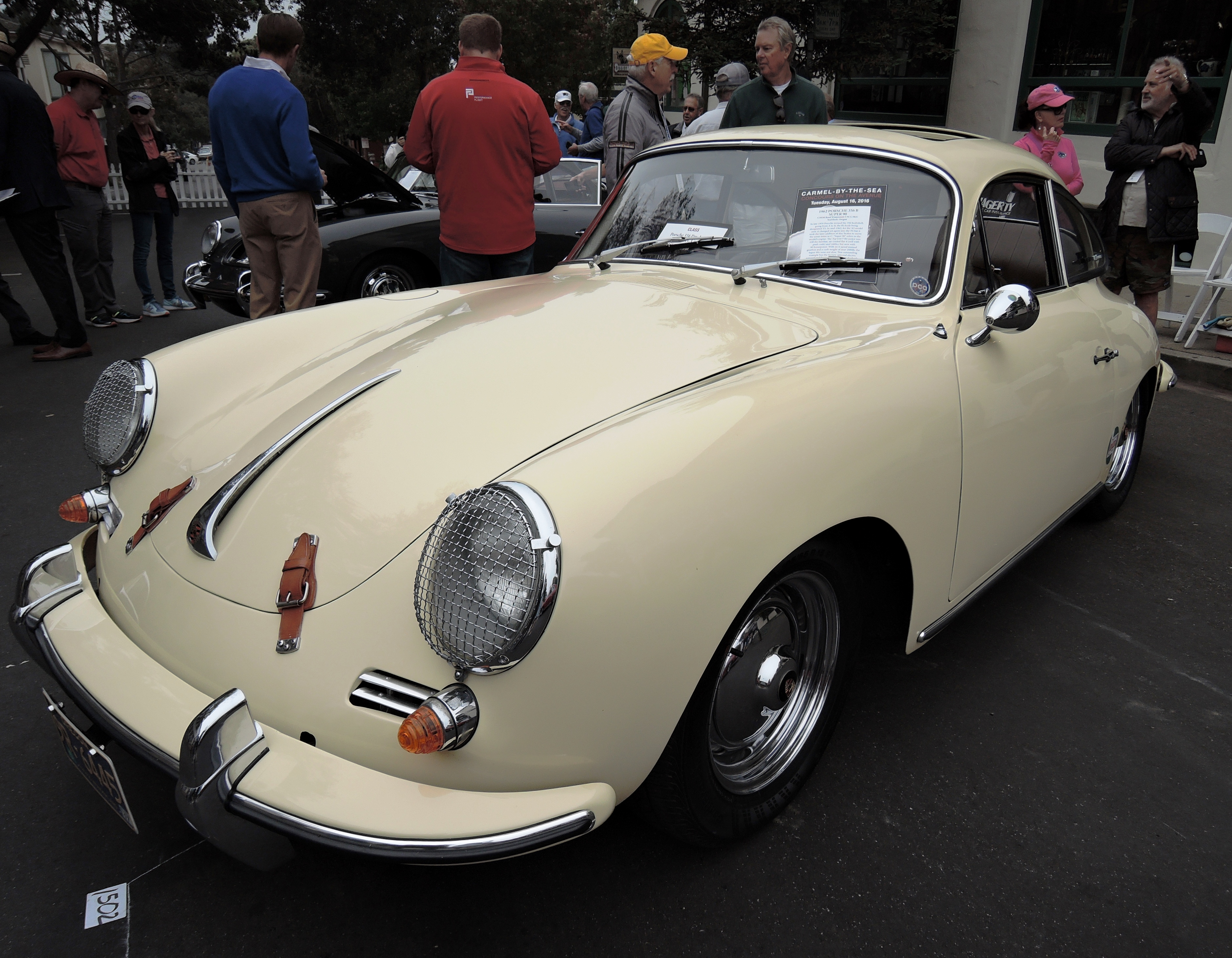 white 1962 Porsche 356 B Super 90 - Concours on the Ave Carmel