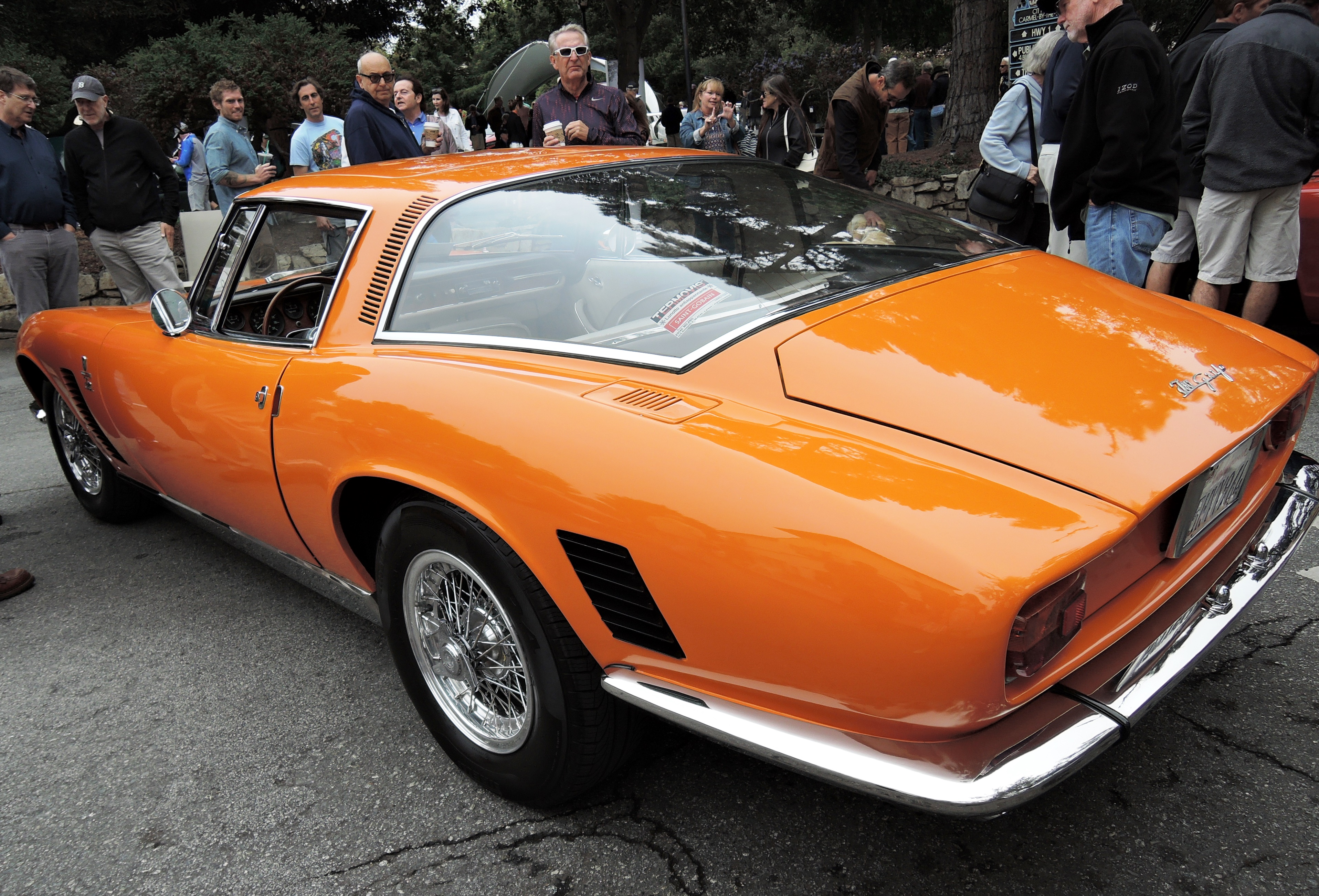 orange 1967 Iso Grifo GL - Concours on the Ave Carmel