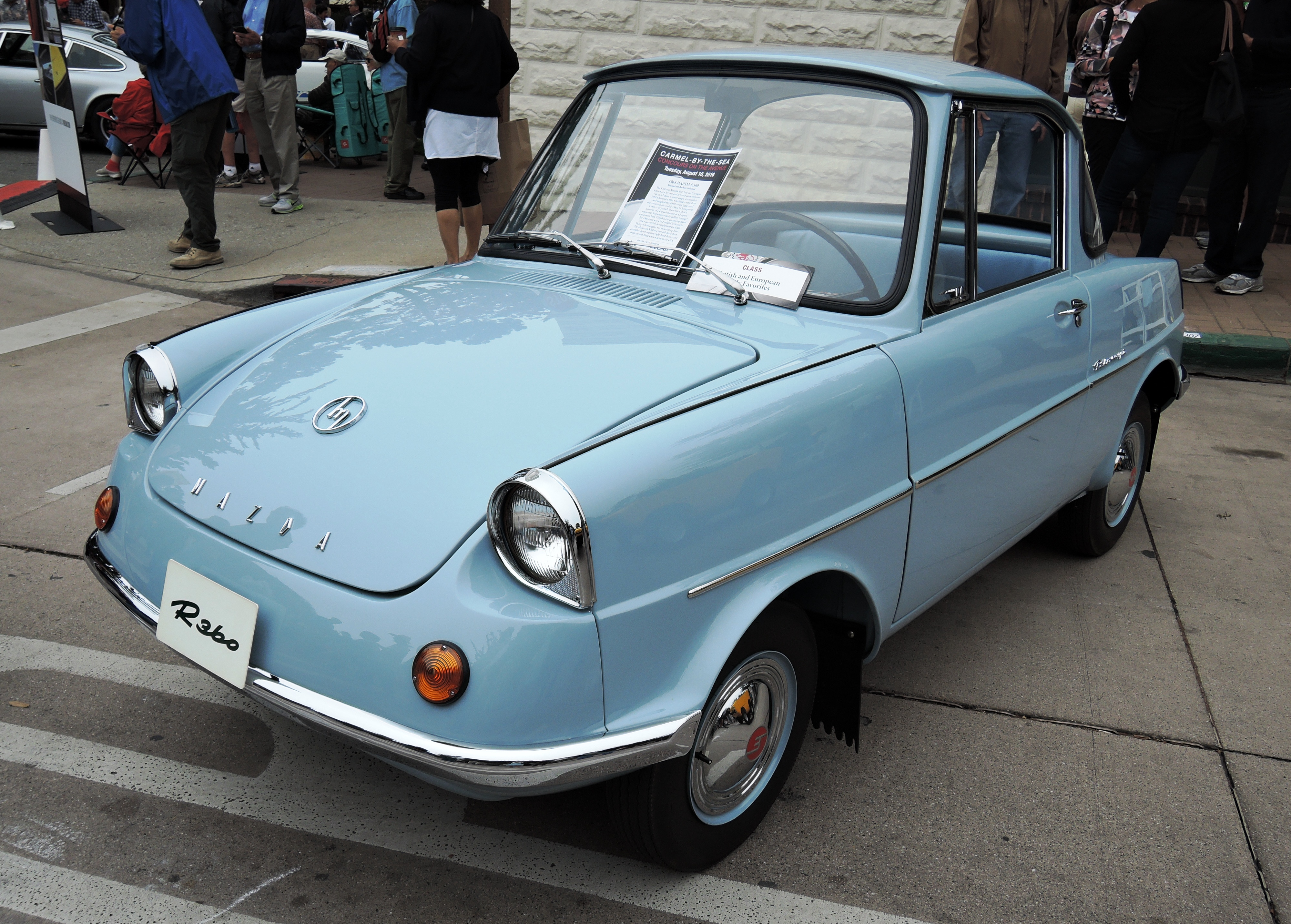 blue 1964 Mazda R360 - Concours on the Ave Carmel