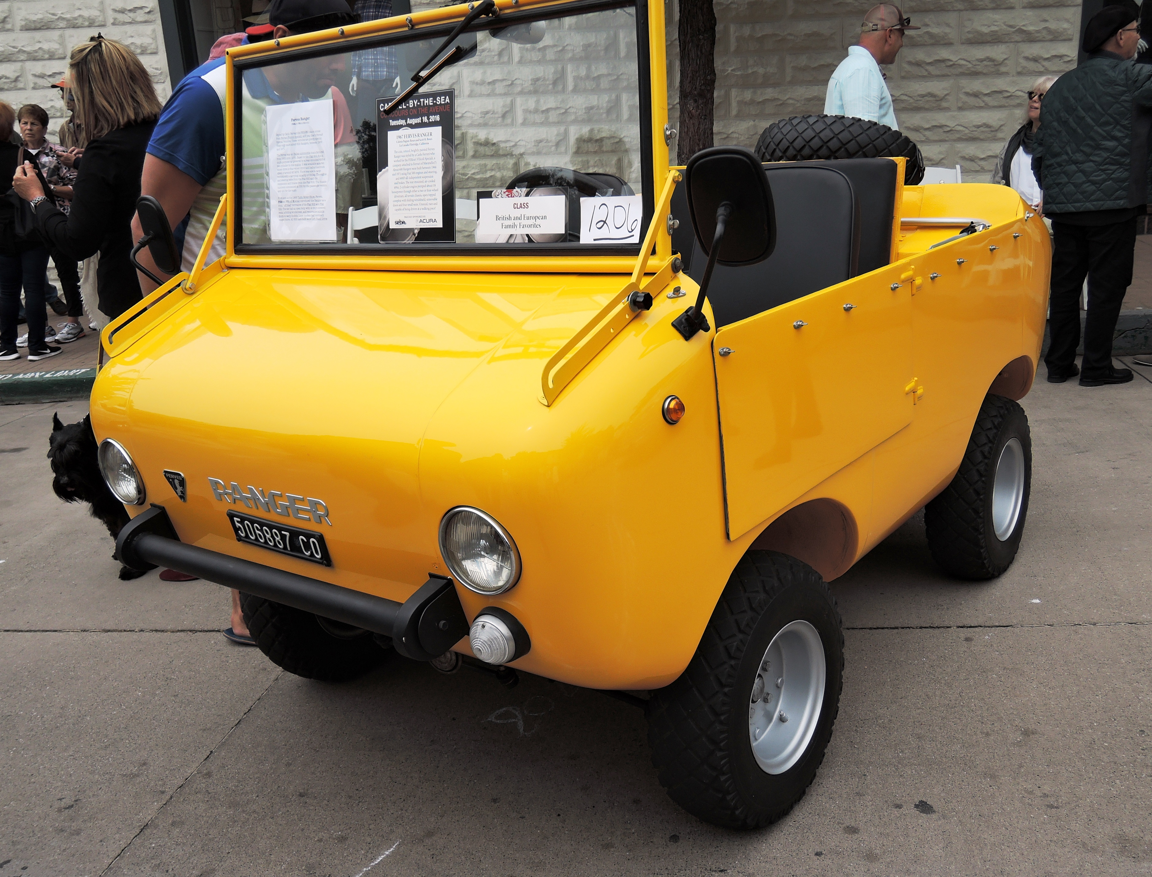 yellow 1967 Ferves Ranger - Concours on the Ave Carmel