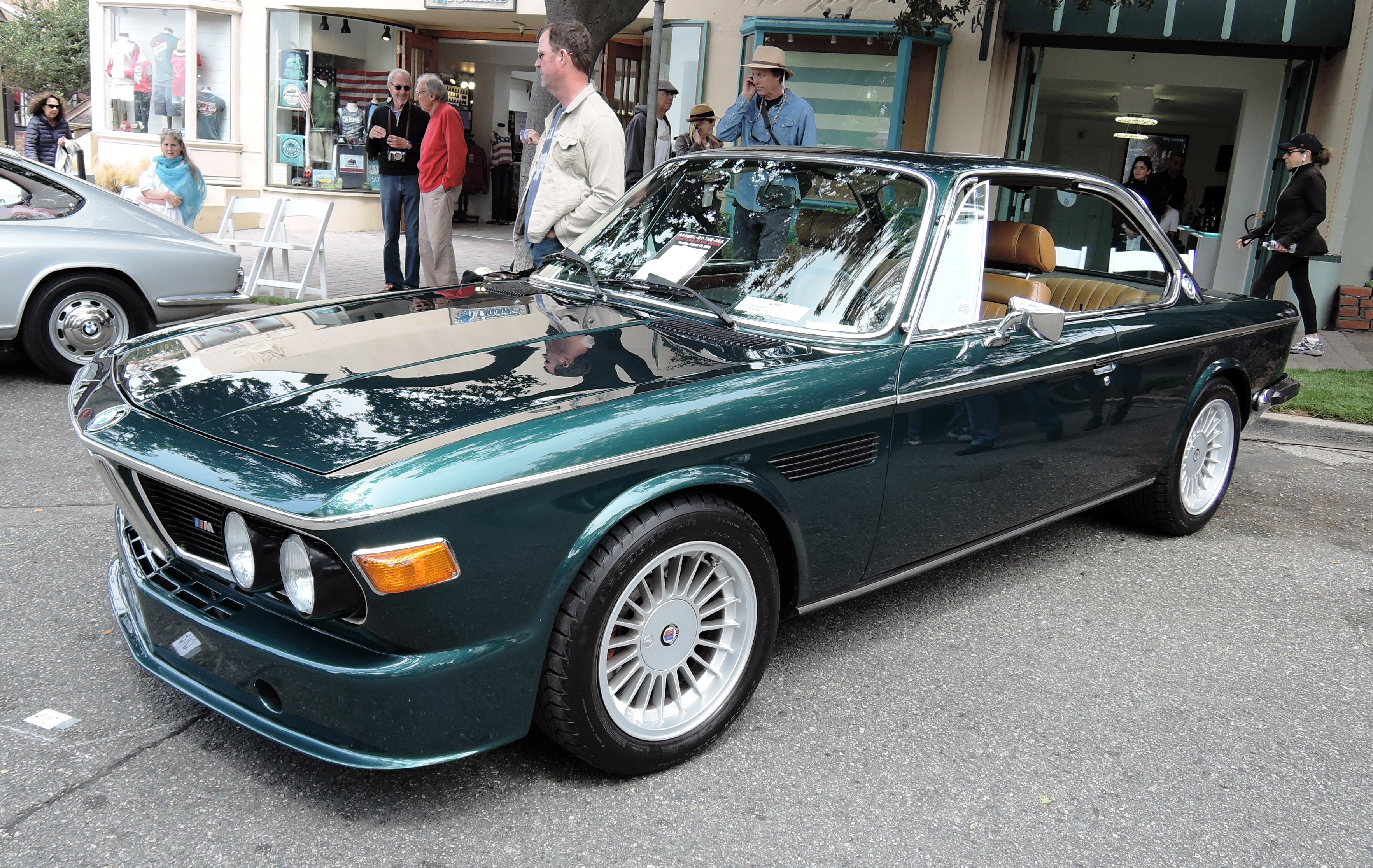 green 1972 BMW 3.0 CSi - Concours on the Ave Carmel