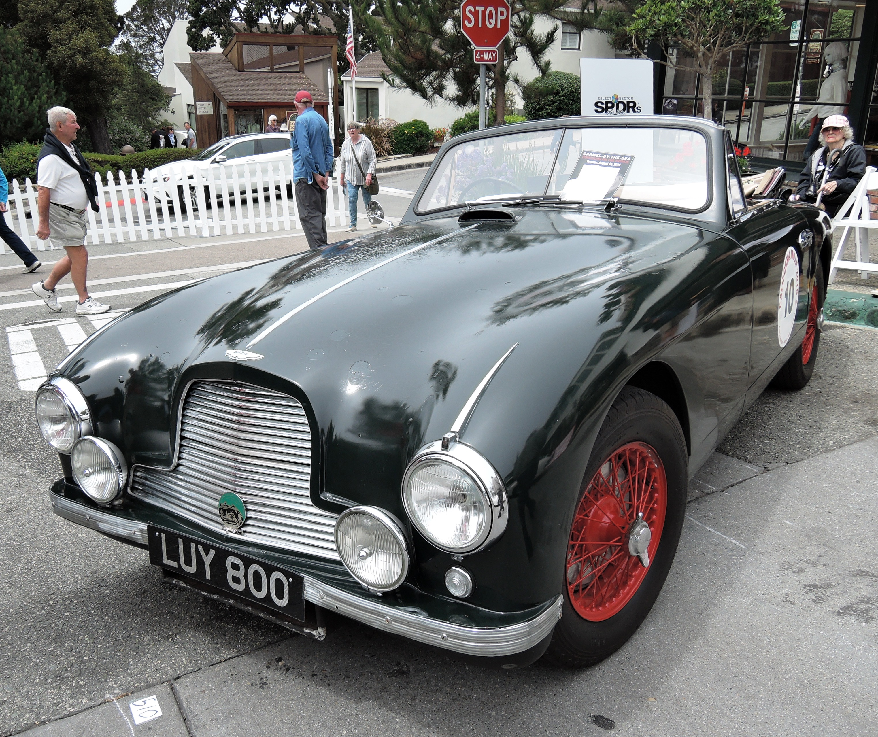 green 1953 Aston Martin DB2 DHC - Concours on the Ave Carmel