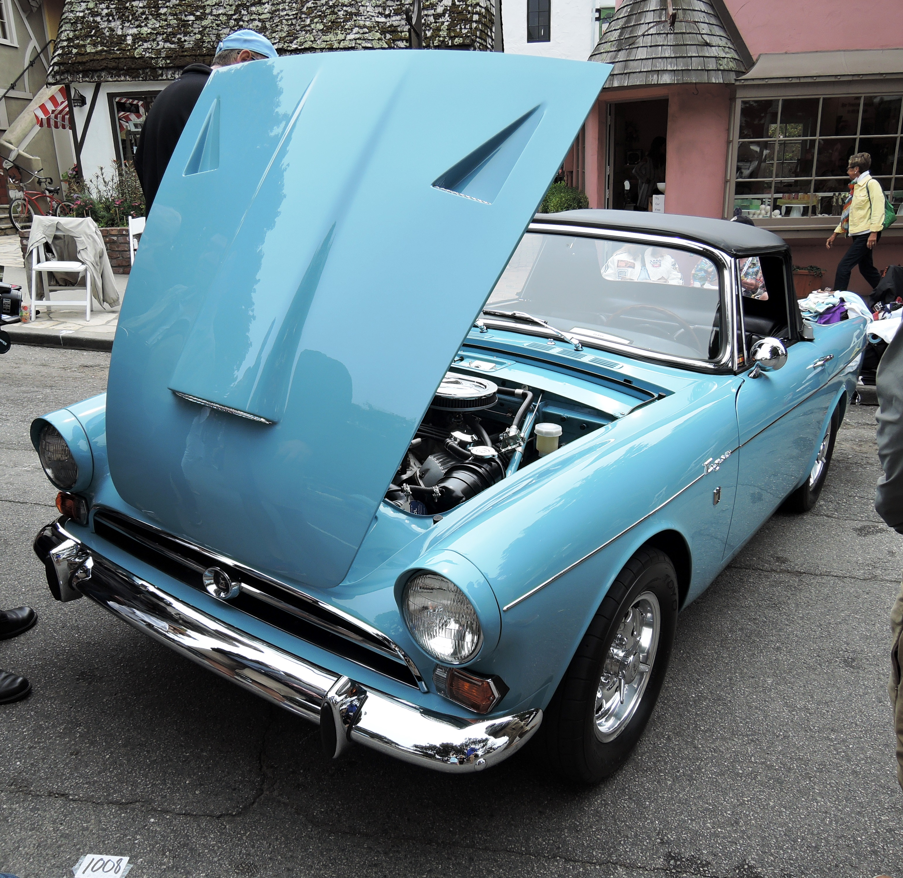 blue 1966 Sunbeam Tiger - Concours on the Ave Carmel
