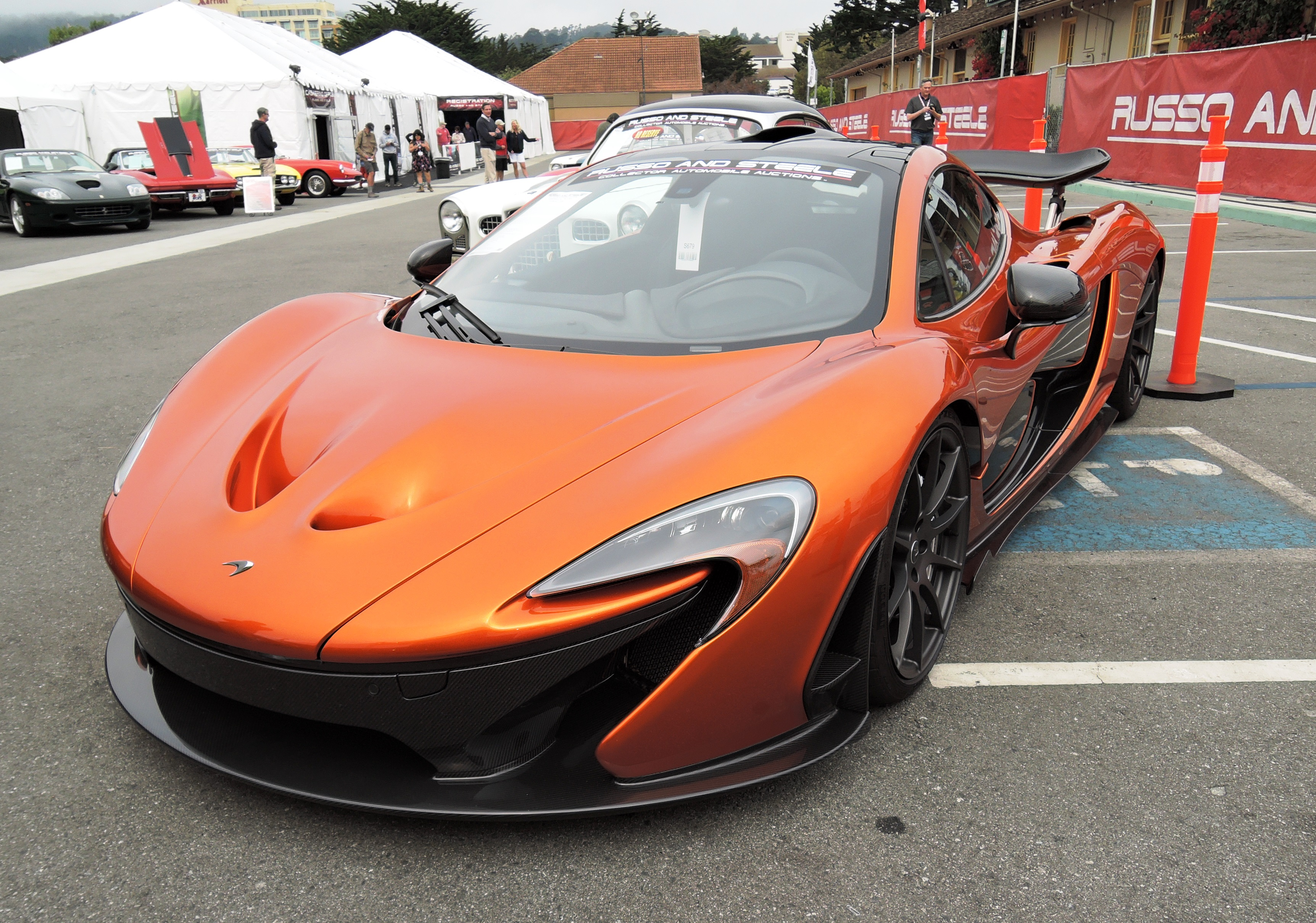 2014 McLaren P1 Coupe in Volcanic Orange Coarse - monterey auction russo & steele