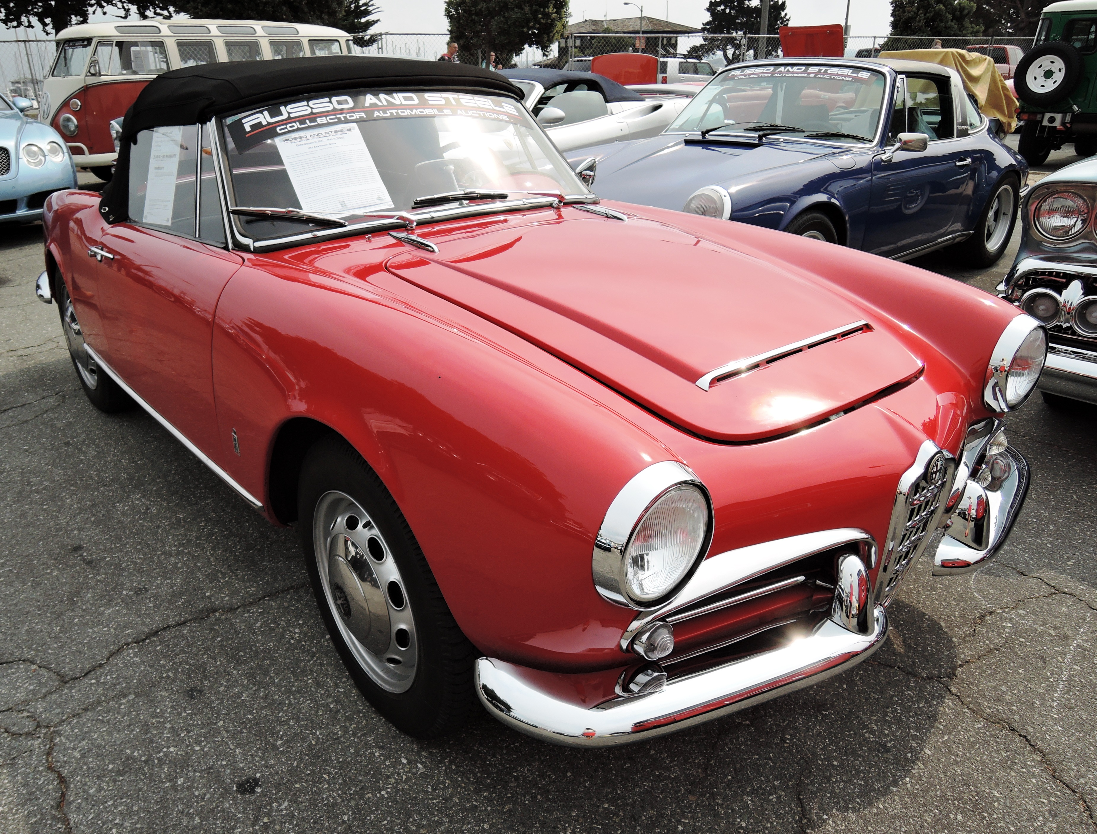 red 1963 Alfa Romeo Giulia - Monterey auctions Russo & Steele