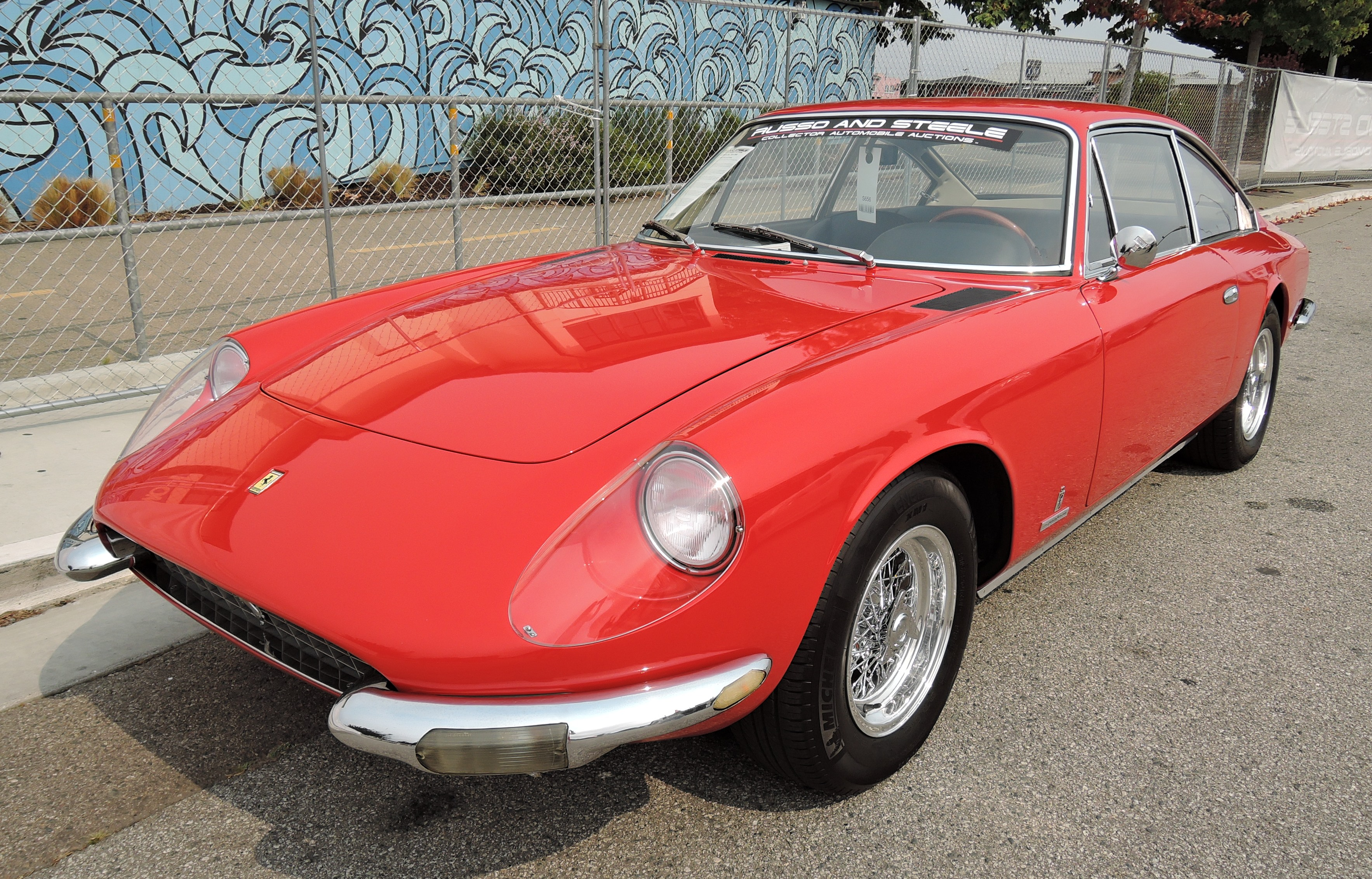 red 1967 Ferrari 365 2+2 - Monterey auctions Russo & Steele