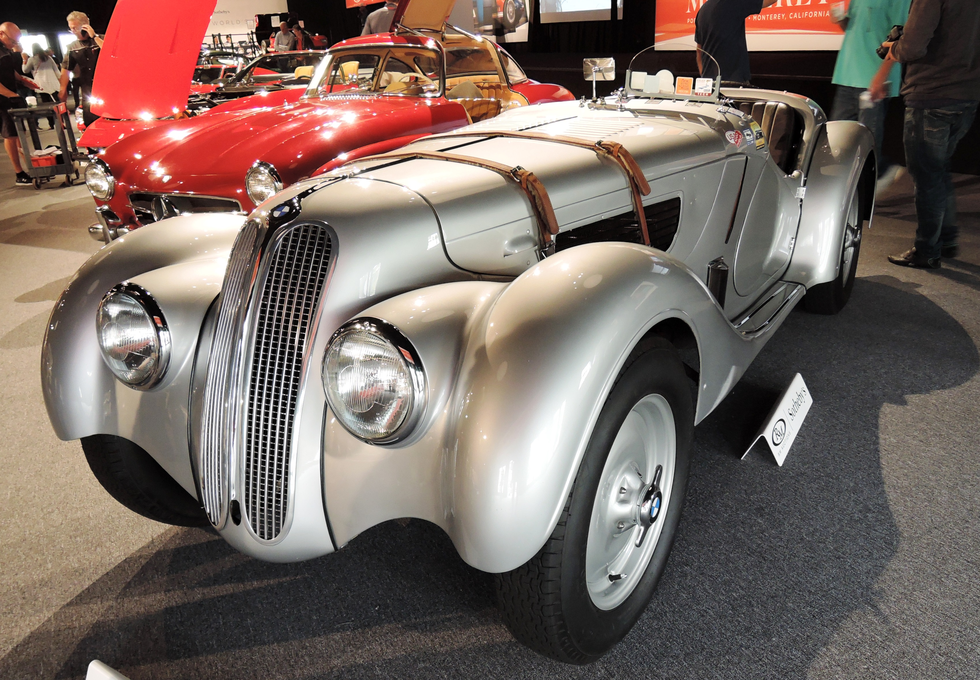 silver/black 1939 BMW 328 - Monterey auctions RM Sotheby's