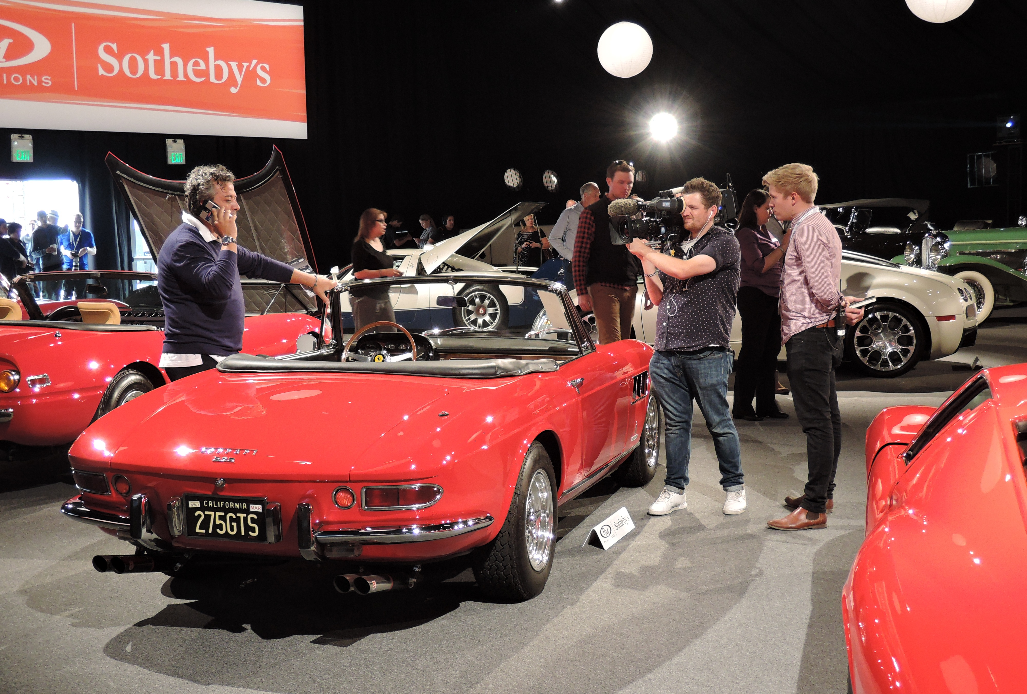 red/tan 1965 Ferrari 275 GTS - Monterey auctions RM Sotheby's