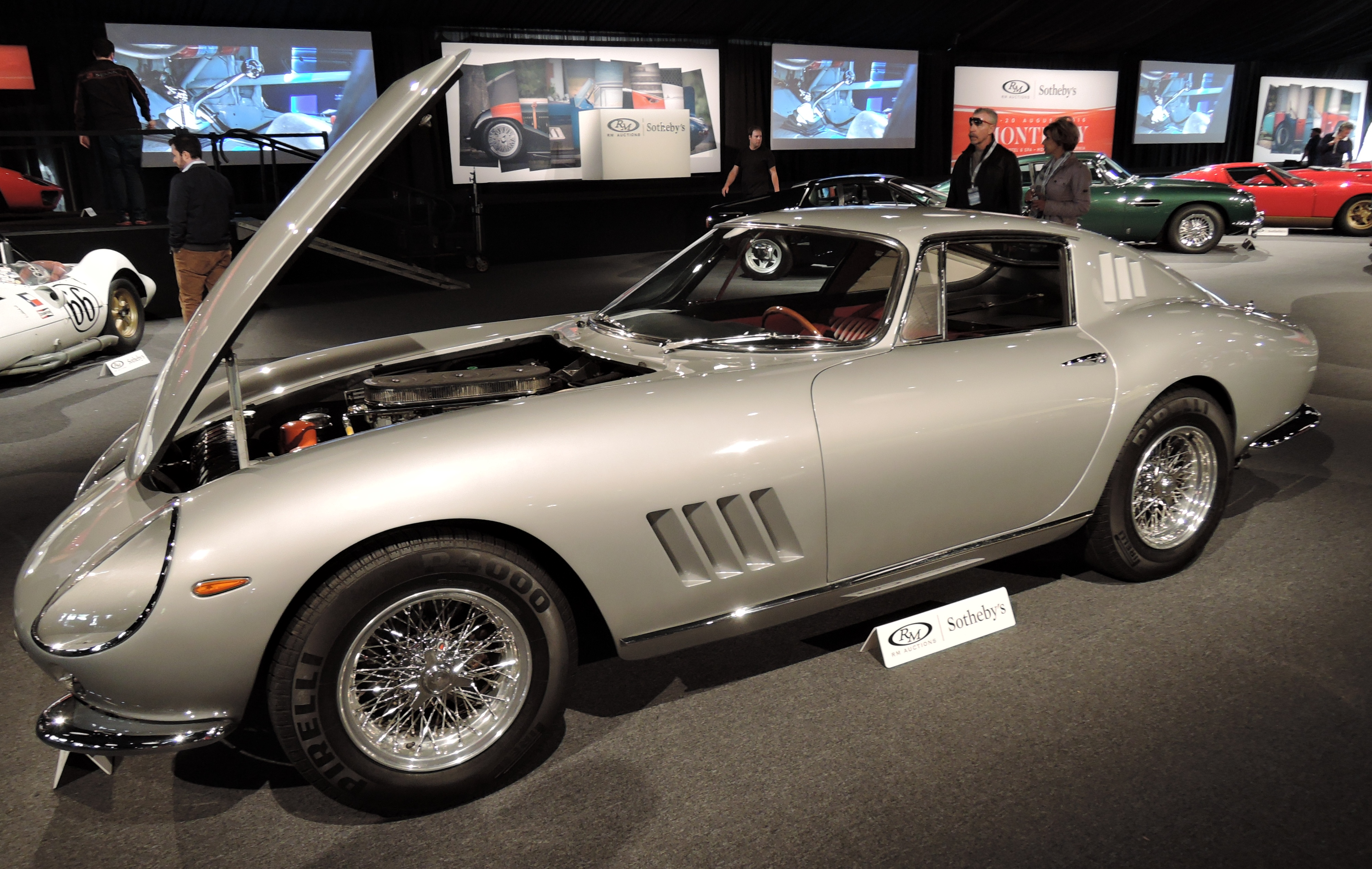 silver 1965 Ferrary 275 GTB - Monterey auctions RM Sotheby's