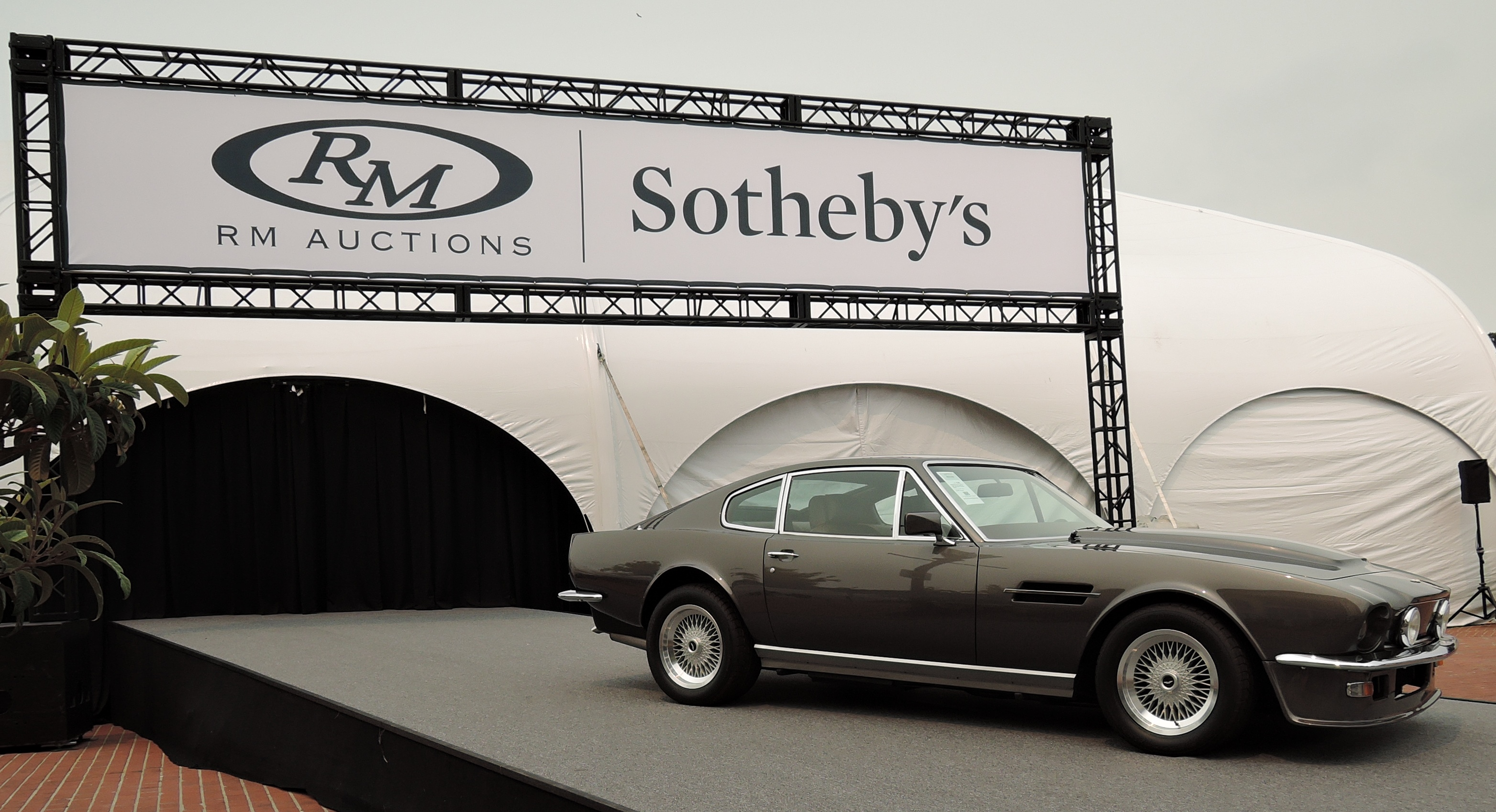 brown 1982 Aston Martin V8 Vantage 'Oscar India' - Monterey auctions RM Sotheby's