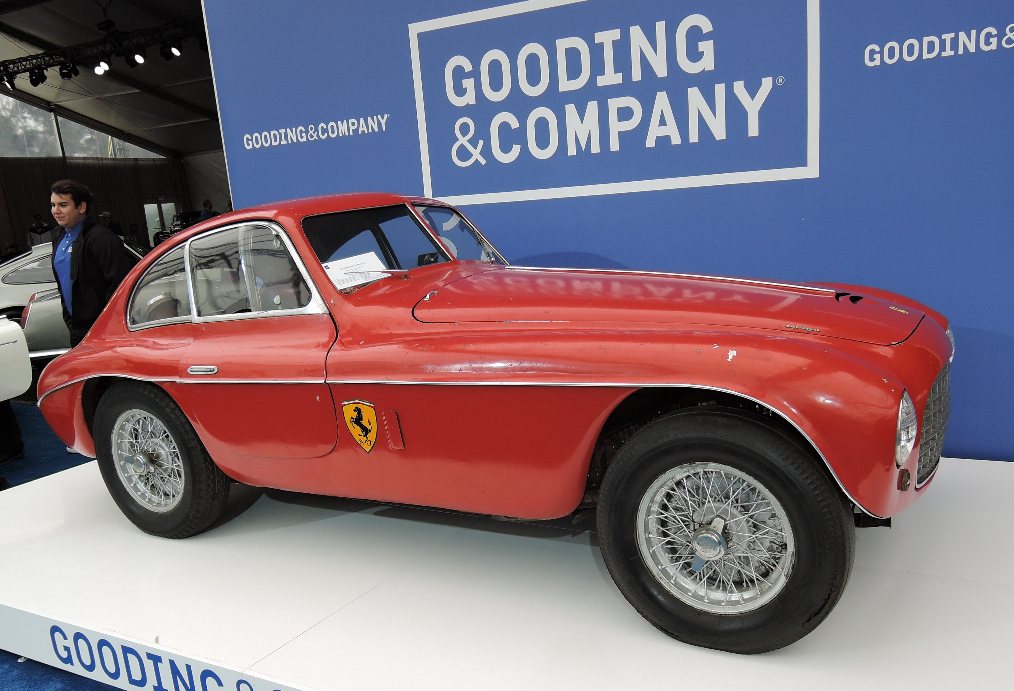 red 1950 Ferrari 166 MM Berlinetta - monterey auctions Good & Co