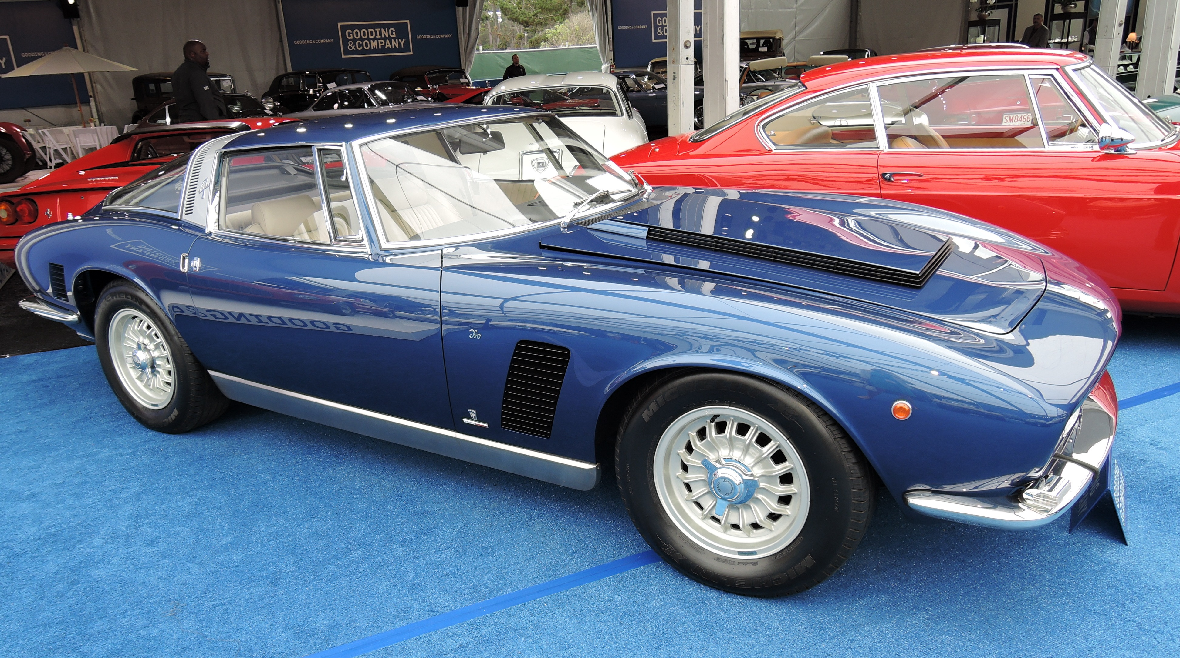 blue/cream 1969 Iso Grifo 7 Litri- Monterey auctions Gooding & Co