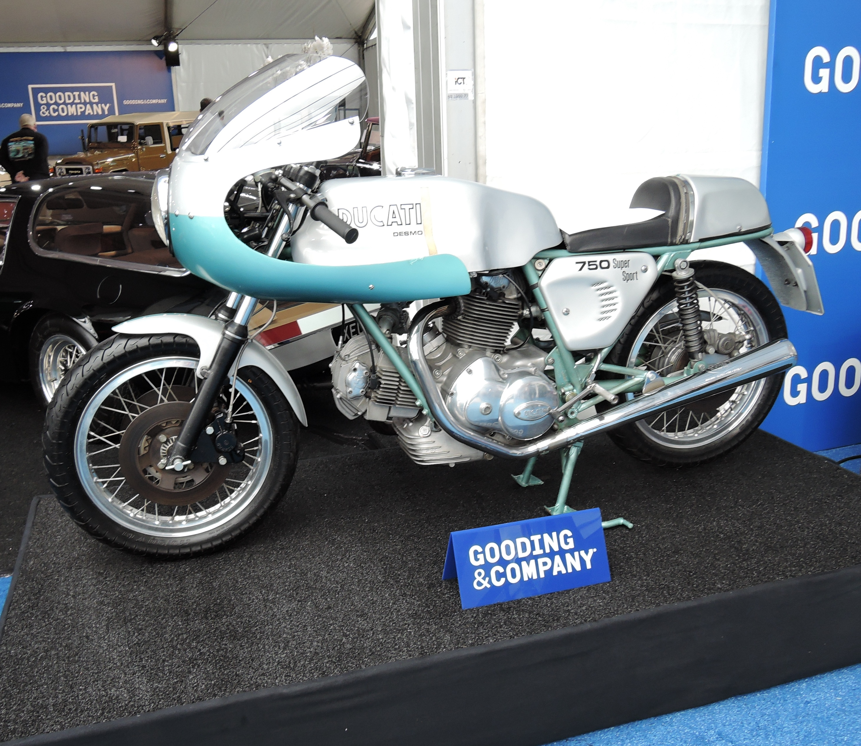 silver/tourquose 1974 Ducati 750 Super Sport; - Monterey auctions