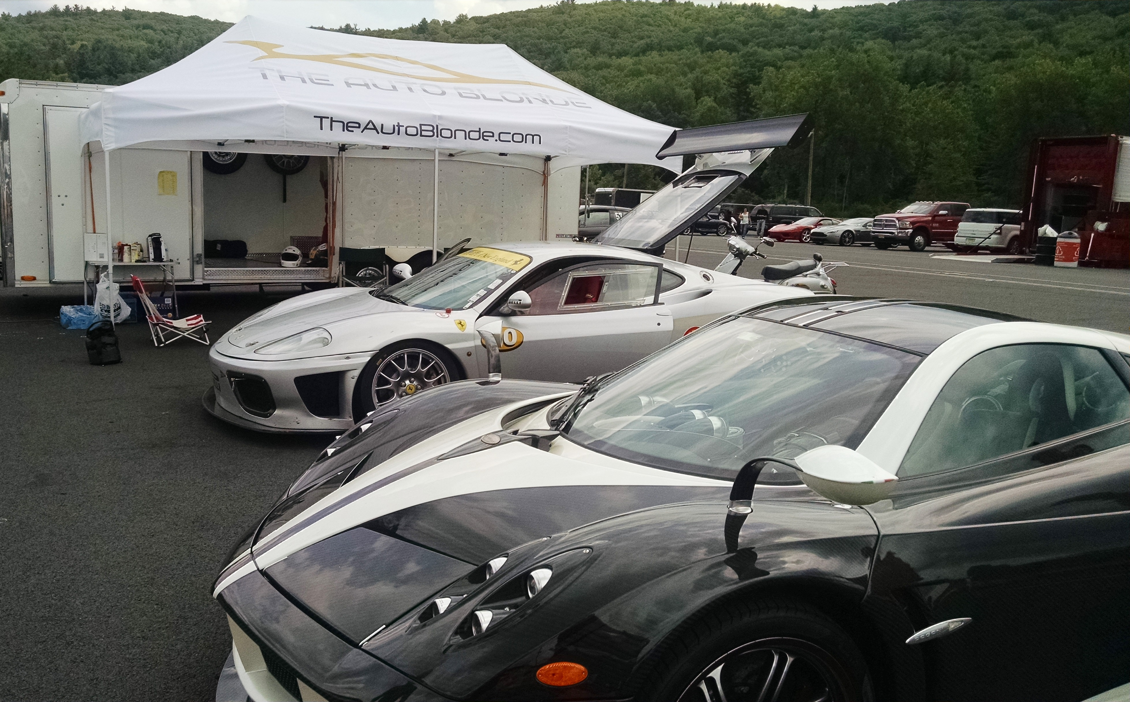 ferraris at lime rock park