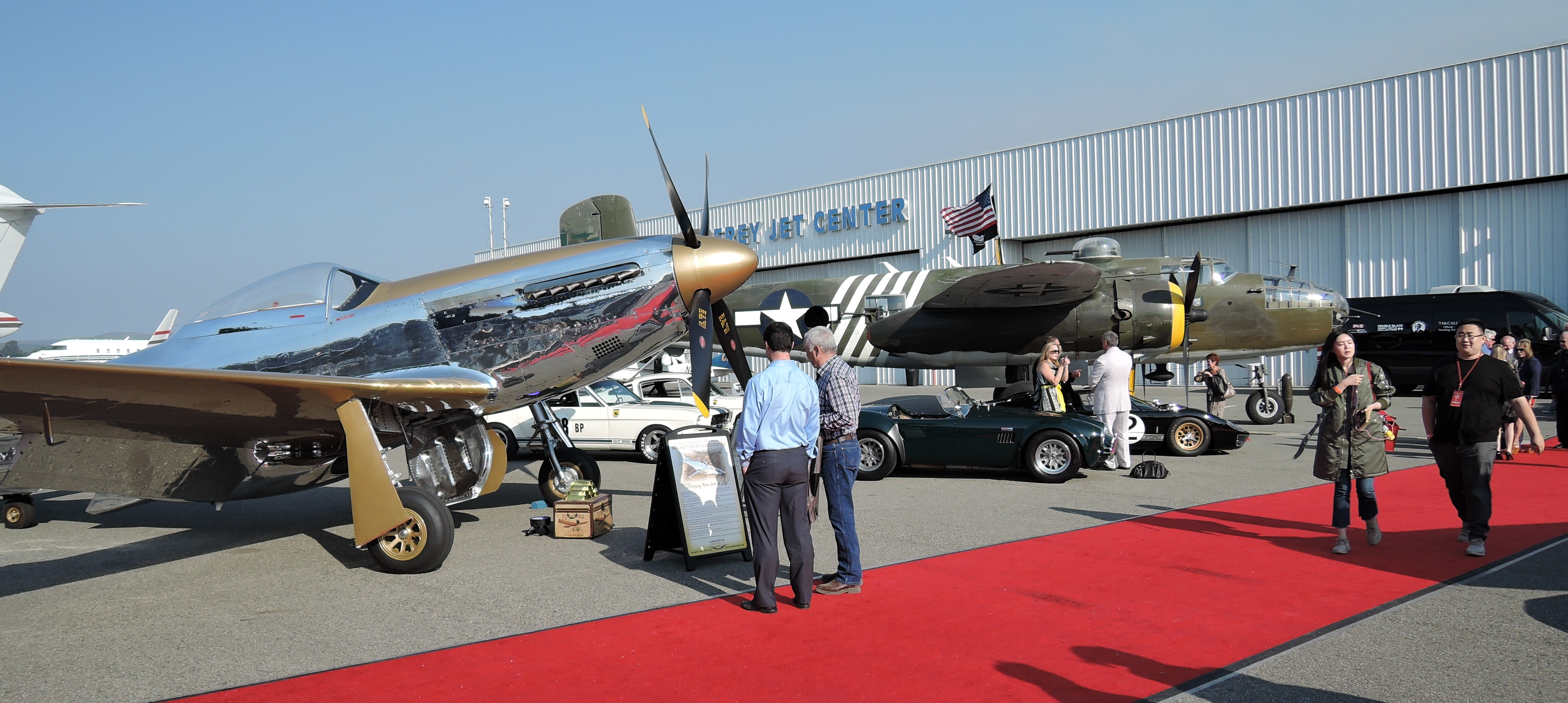 WWII planes - Monterey Jet Center - McCalls Motorworks Revival