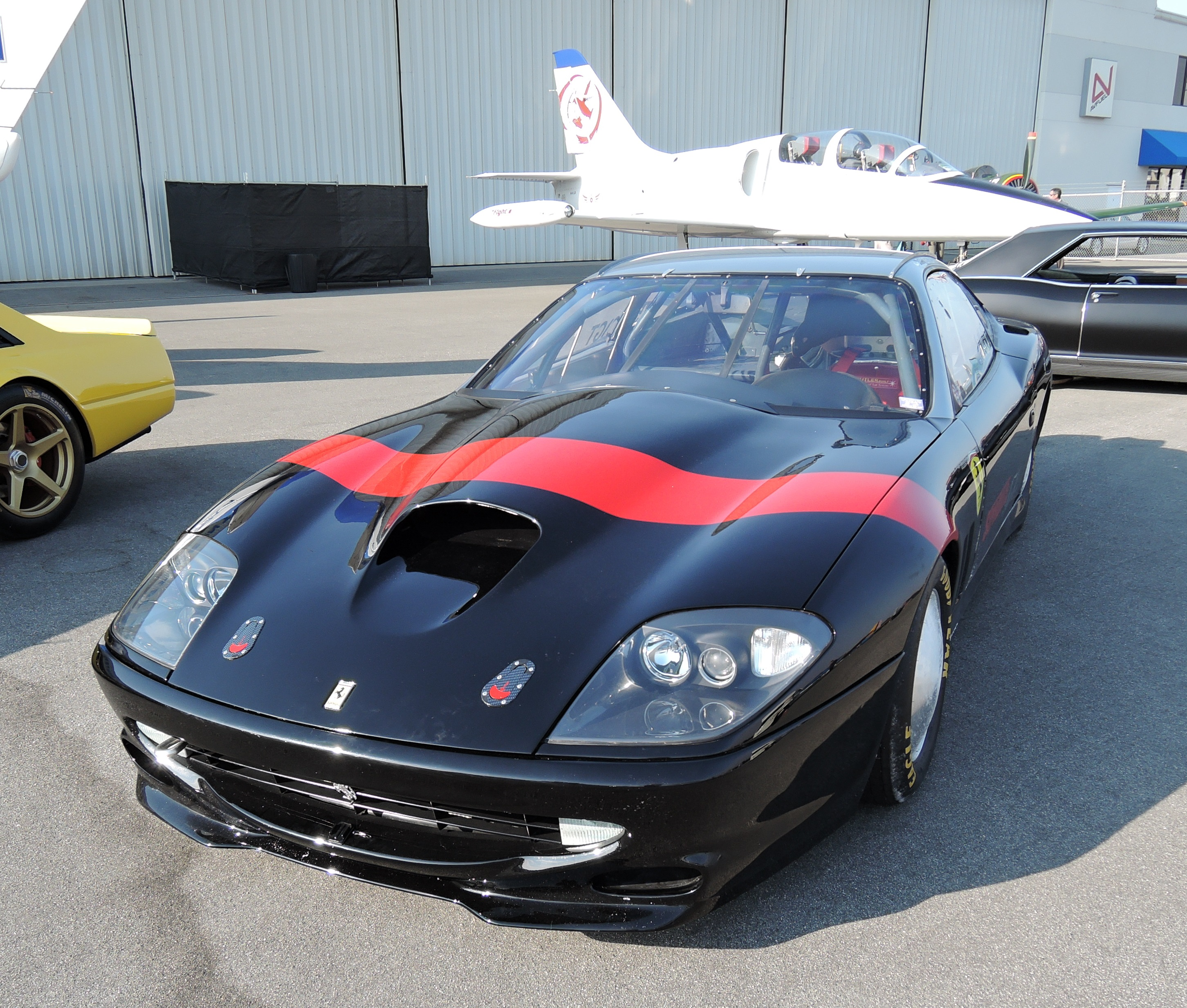 black/red Ken Roath Ferrari 1575 - Monterey Jet Center - McCalls Motorworks Revival