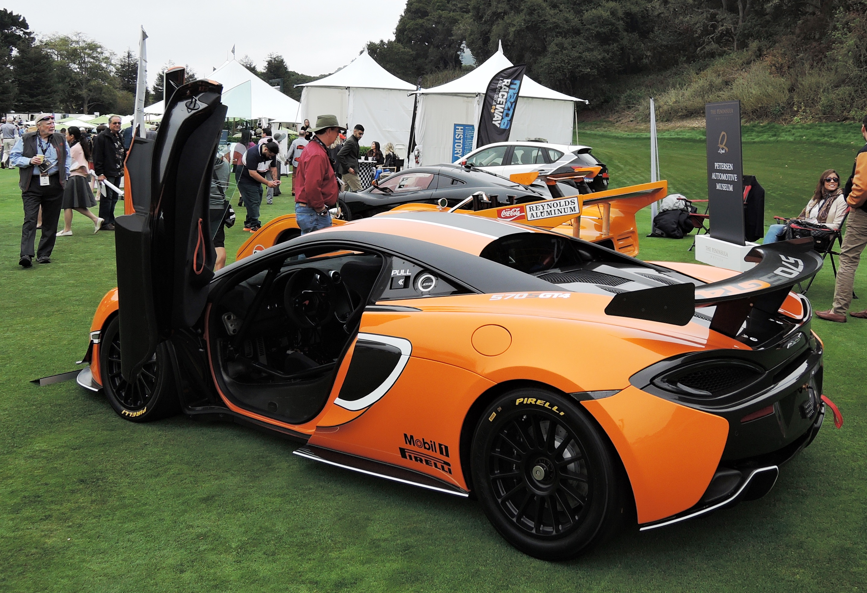 orange/black 2017 McLaren 570 GT4- The Quail 2016