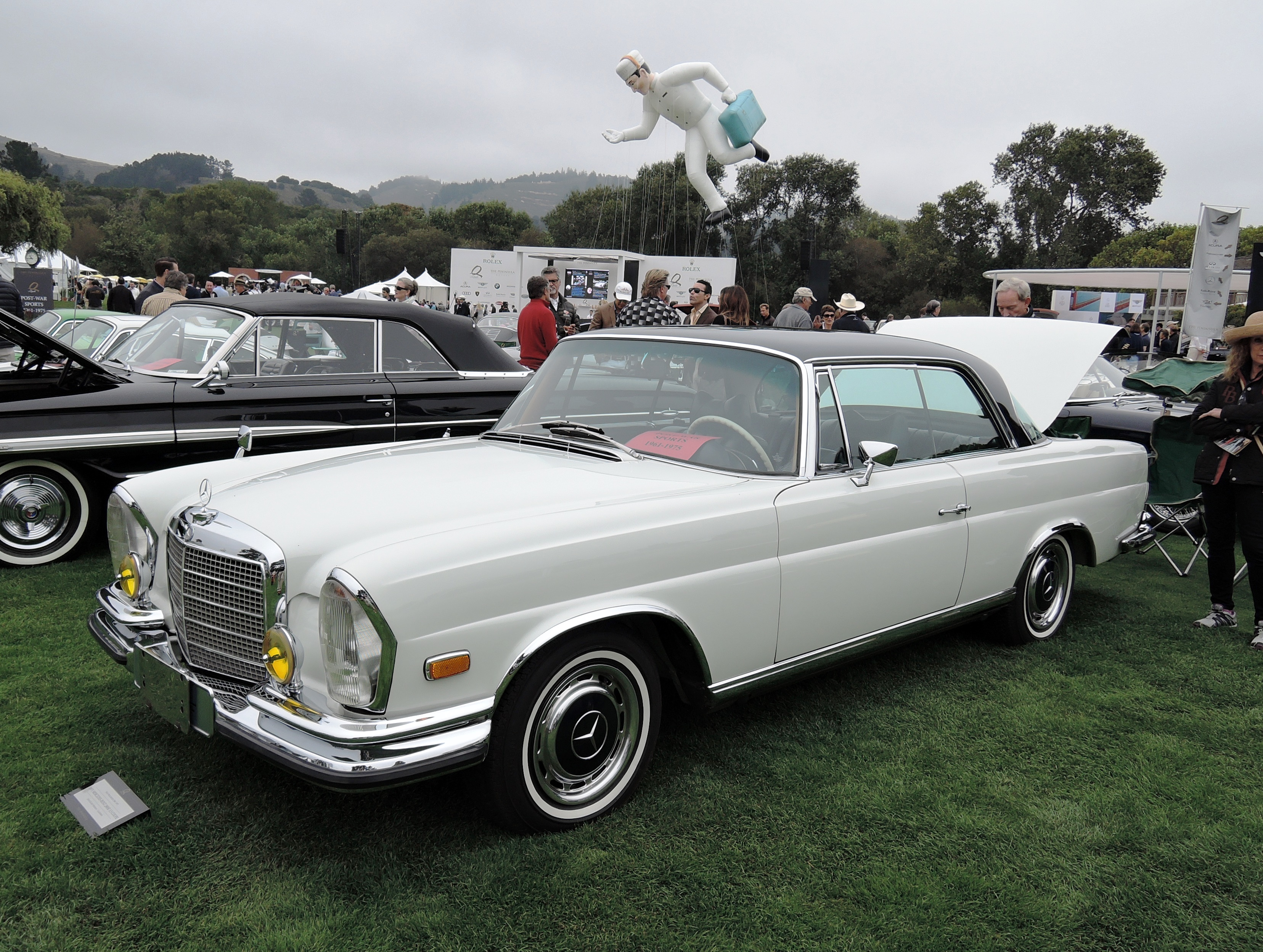 white 1971 Mercedes-Benz 280 SE 3.5 Coupe - The Quail 2016