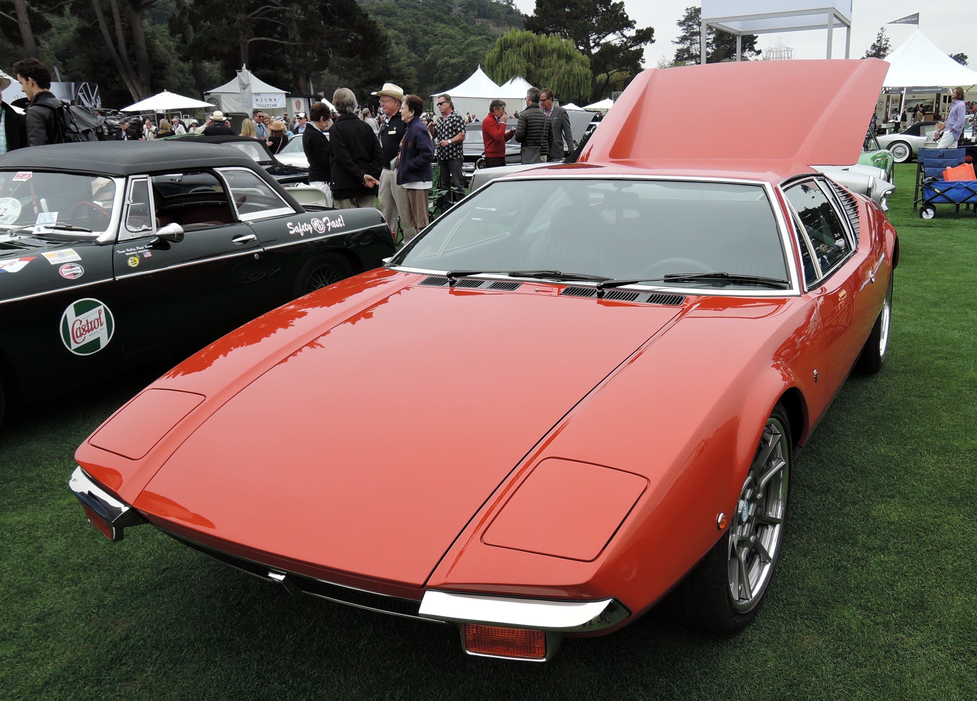 red 1971 De Tomaso Pantera - The Quail 2016