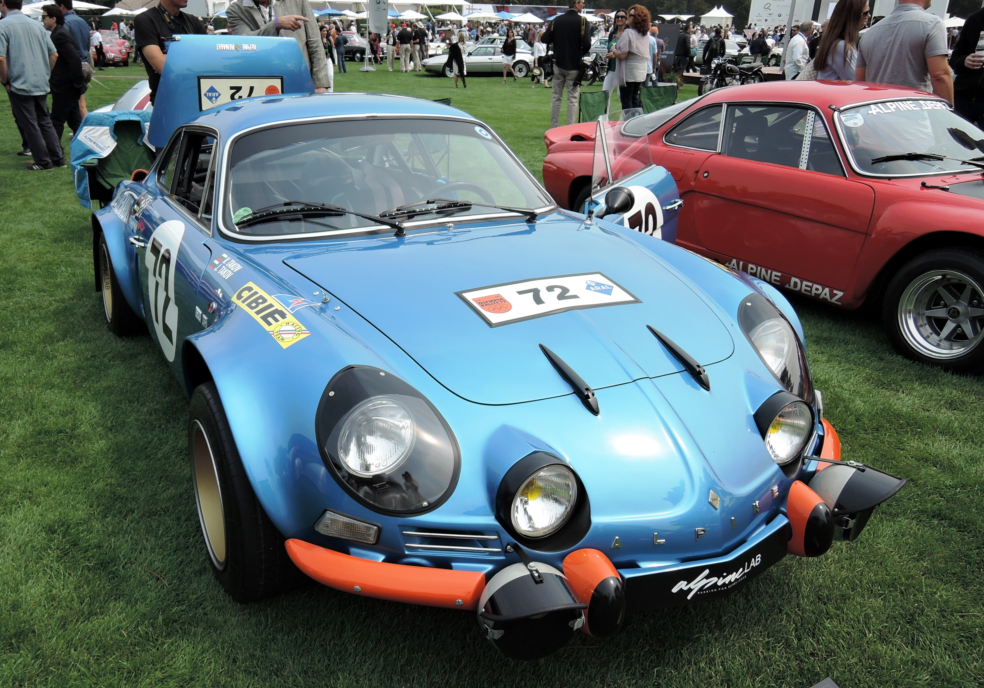 blue 1972 Alpine A110 1800 'Berlinette' Group 4 Client Competition