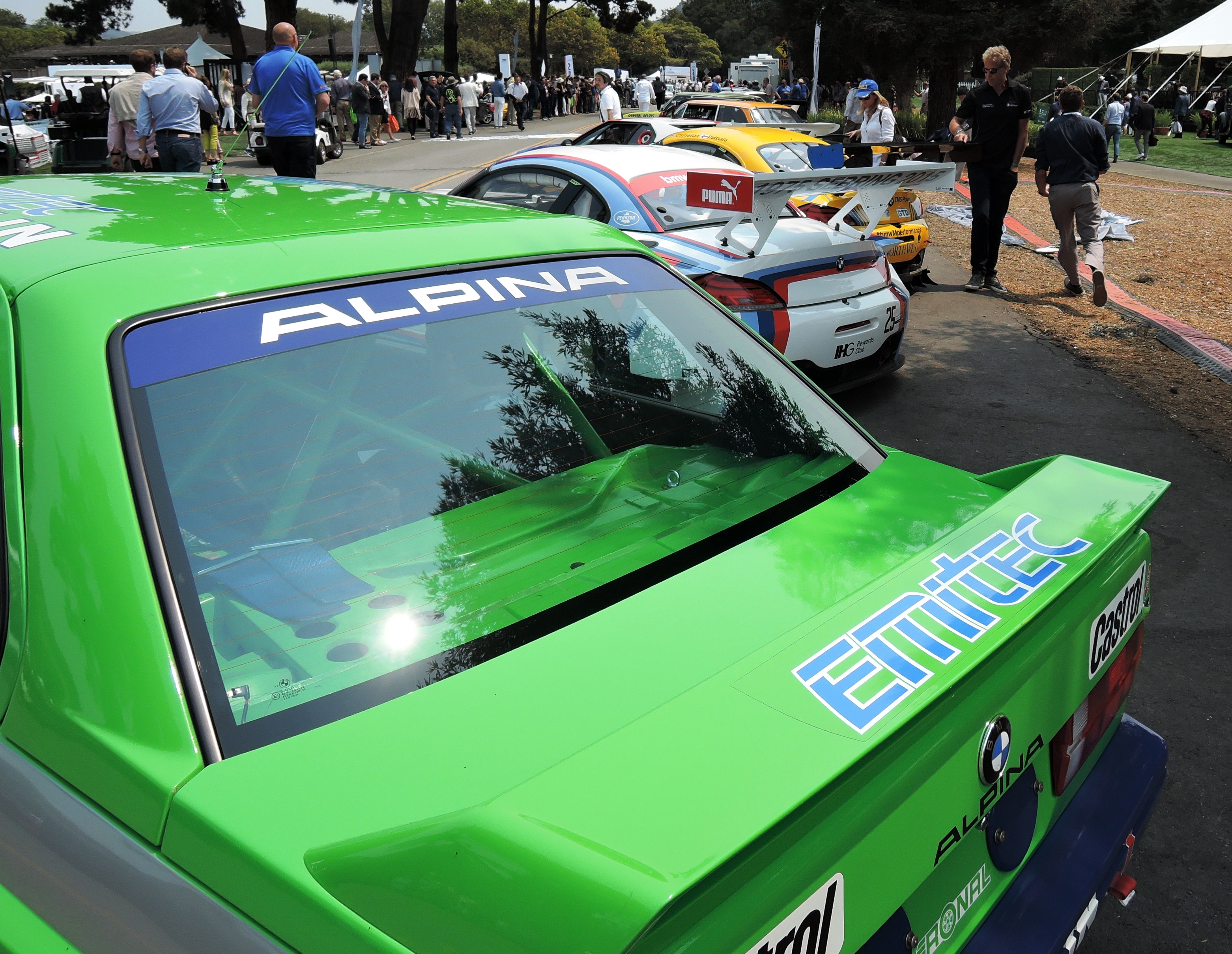 BMW race cars at The Quail 2016