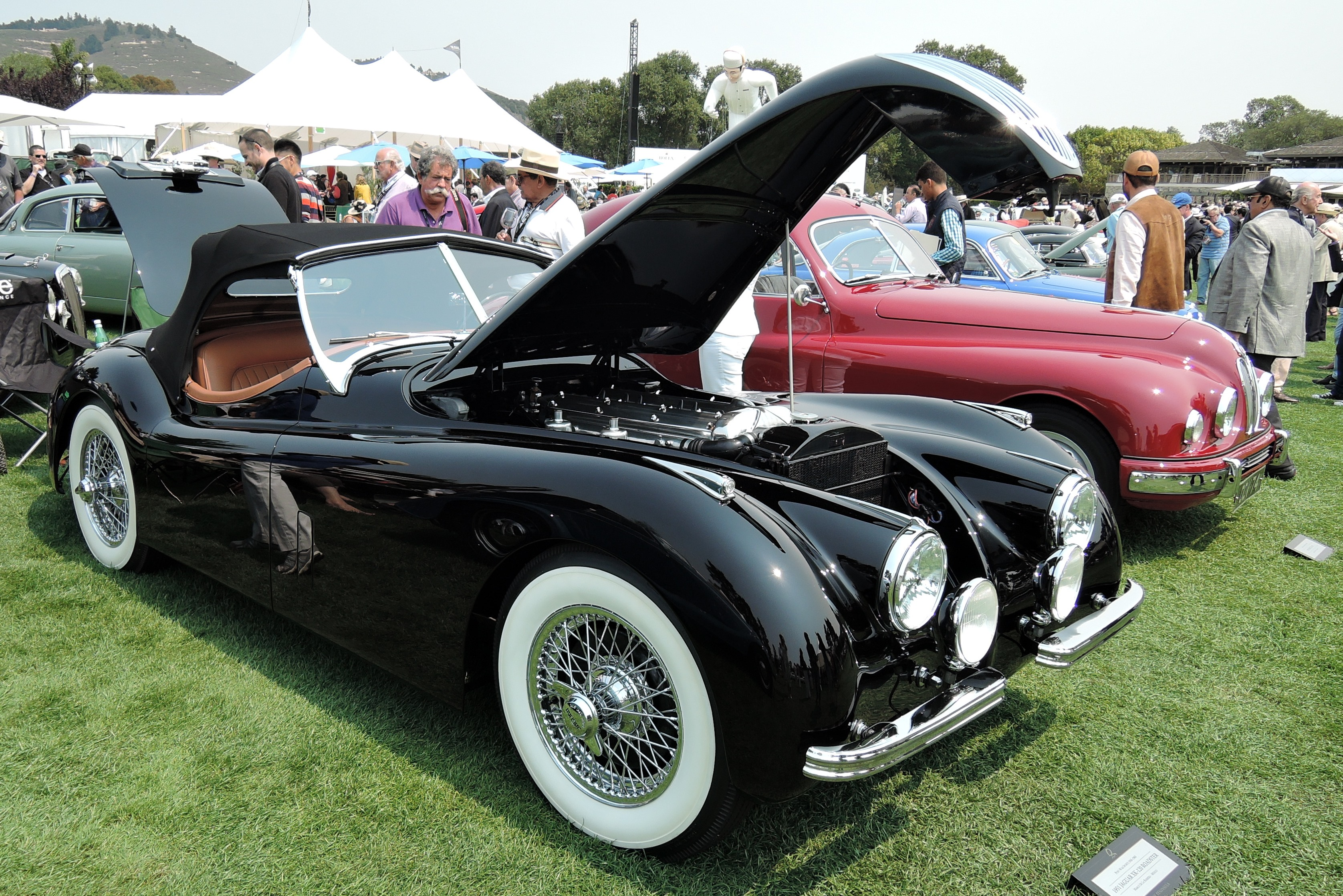 black 1951 Jaguar XK-120 Roadster - The Quail 2016