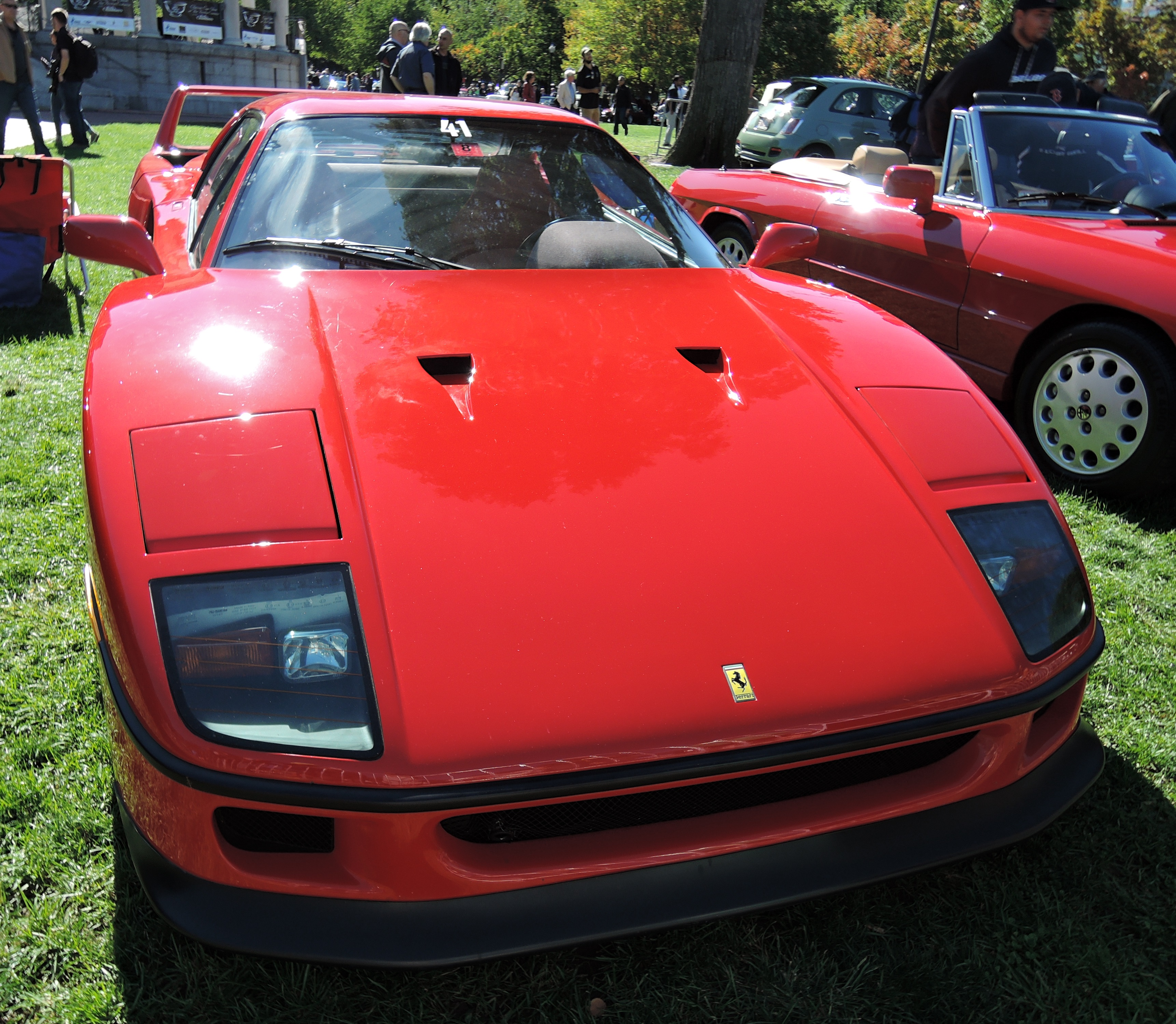 red 1992 Ferrari F40 - The Boston Cup on Boston Common