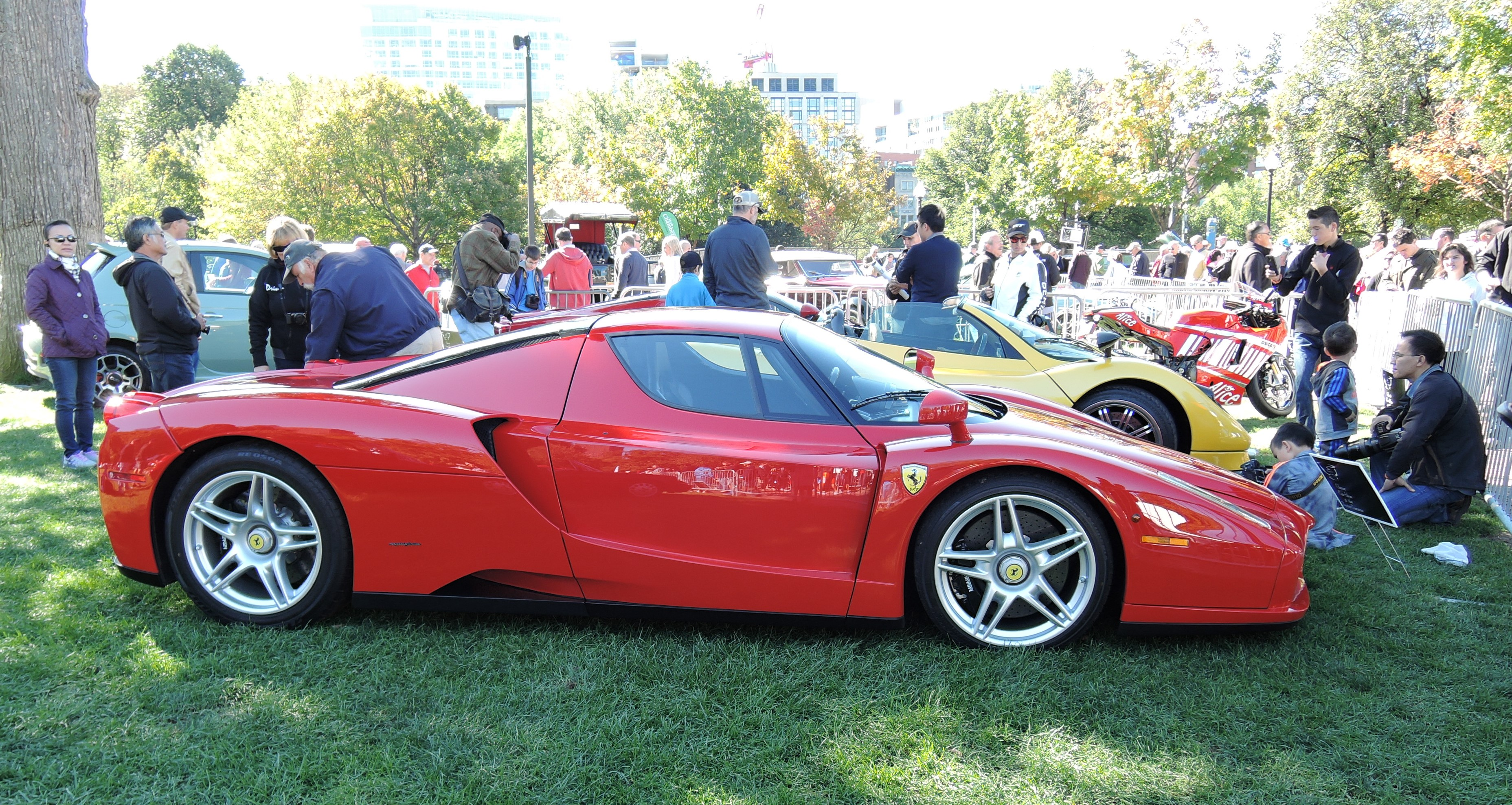 red 2003 Ferrari Enzo - The Boston Cup on Boston Common