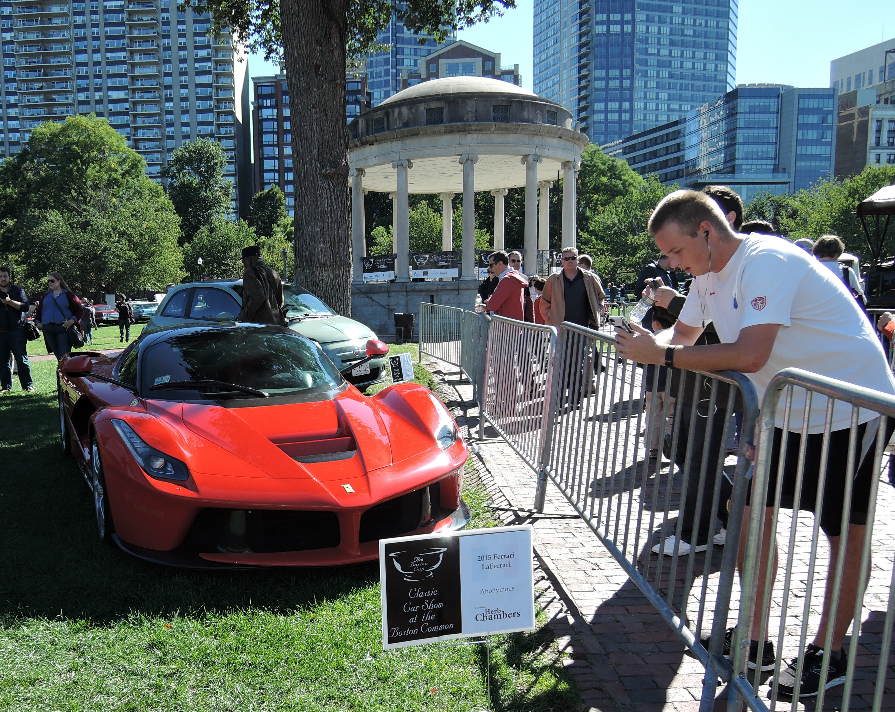 red 2015 Ferrari LaFerrari - The Boston Cup on Boston Common