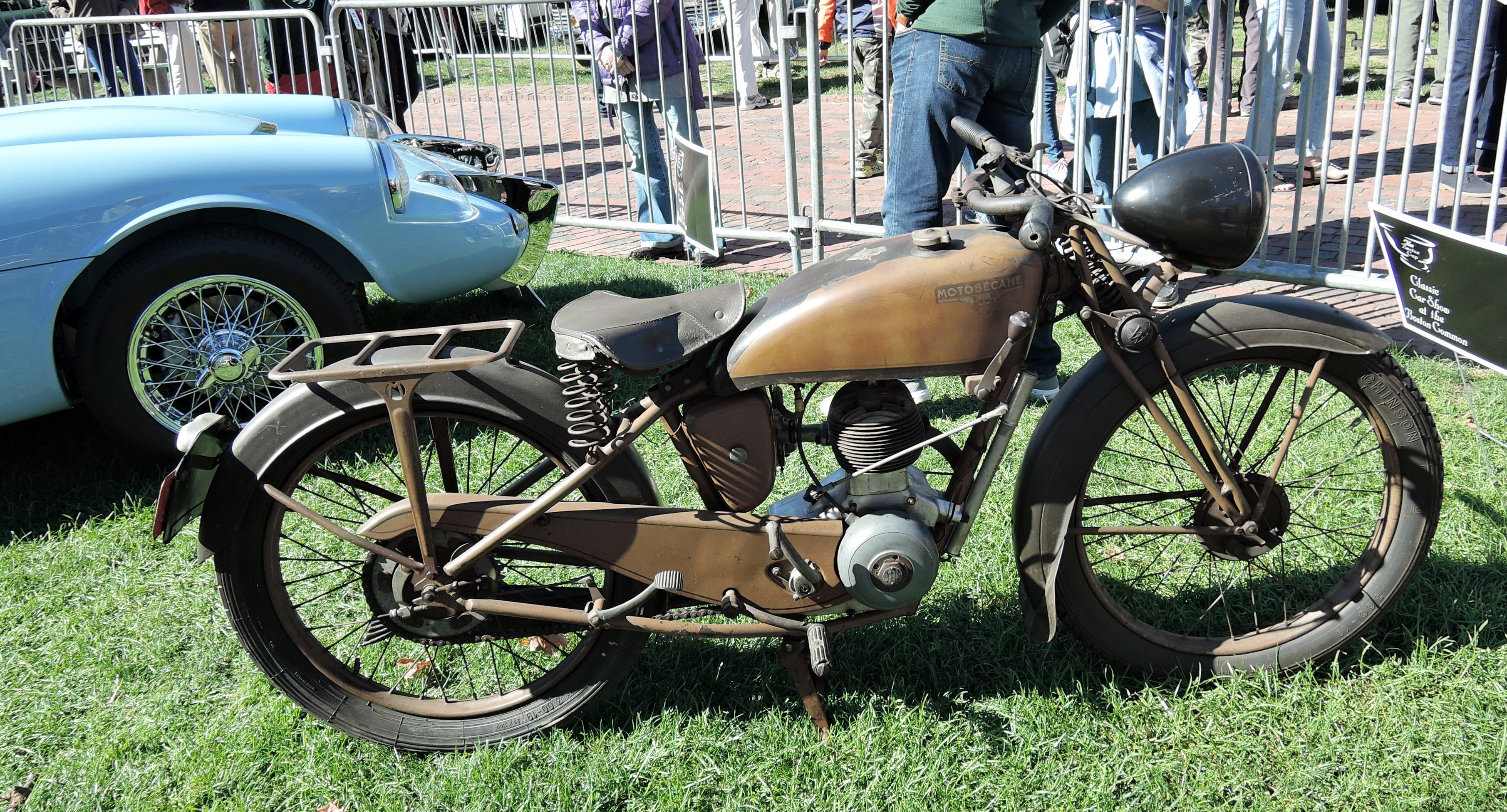 brown 1945 Motobecane D45 - The Boston Cup on Boston Common