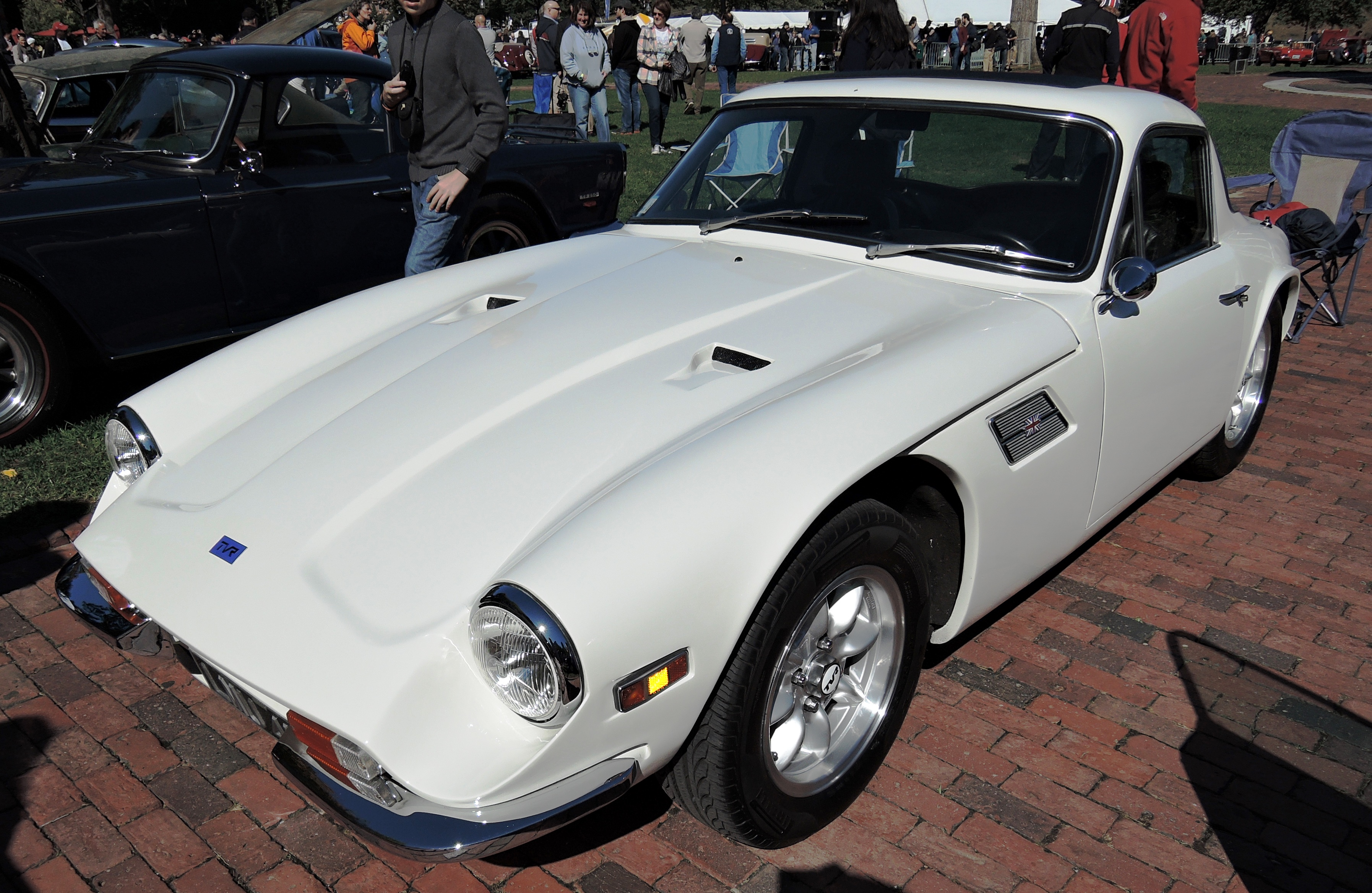 white 1974 TVR 2500M - The Boston Cup on Boston Common