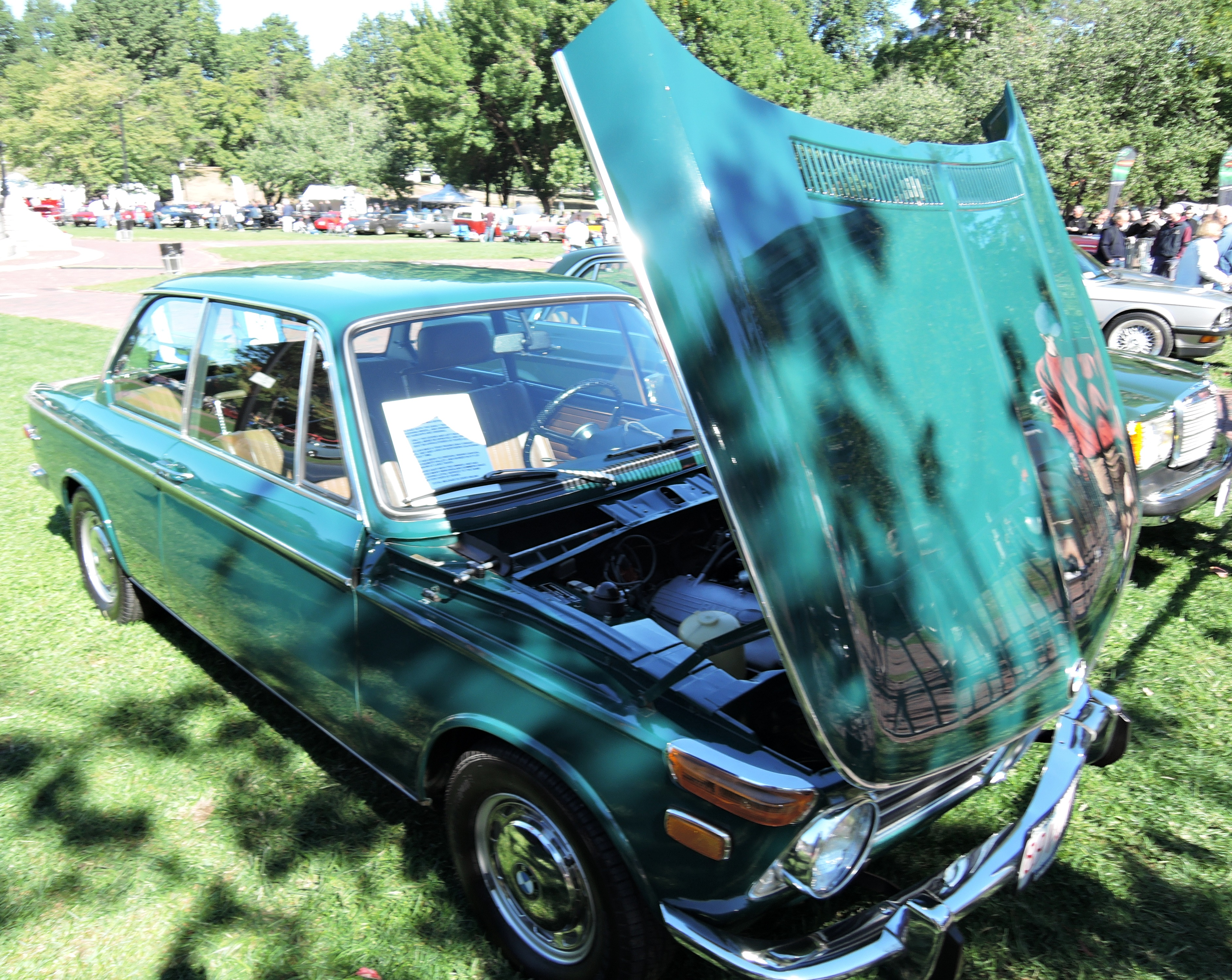 green 1970 BMW 2002 - The Boston Cup on Boston Common